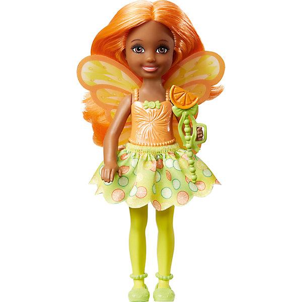 Маленькая фея-челси, BarbieБренды кукол<br>Характеристики товара:<br><br>• комплектация: 1 кукла<br>• материал: пластик, полимер<br>• серия: Barbie™ Dreamtopia «Сладкое Королевство»<br>• подвижные руки<br>• возраст: от трех лет<br>• размер упаковки: 10,5 x 18 x 4 см<br>• вес: 0,3 кг<br>• страна бренда: США<br><br>Маленьких любительниц куклы Barbie наверняка порадует малышка Челси в образе волшебной феи. Она выглядит очаровательно в ярком наряде и с небольшими крылышками. Длинные волосы позволяют делать разнообразные прически! Эта Челси станет великолепным подарком для девочек!<br><br>Игры с куклами помогают развить у девочек вкус и чувство стиля, отработать сценарии поведения в обществе, развить воображение и мелкую моторику. Такую куклу удобно брать с собой в поездки и на прогулки. Маленькая Челси от бренда Mattel не перестает быть популярной! <br><br>Куклу Маленькая фея-челси, Barbie, из серии Dreamtopia «Сладкое Королевство»  от компании Mattel можно купить в нашем интернет-магазине.<br><br>Ширина мм: 100<br>Глубина мм: 40<br>Высота мм: 180<br>Вес г: 88<br>Возраст от месяцев: 36<br>Возраст до месяцев: 120<br>Пол: Женский<br>Возраст: Детский<br>SKU: 5430586
