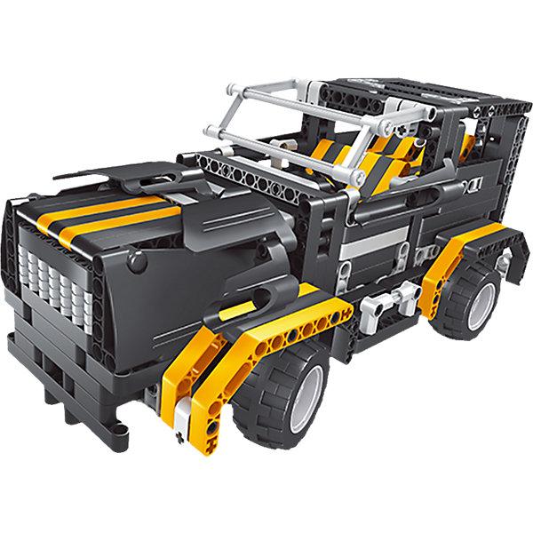 Конструктор электромеханический Black Hums, 509 деталей, QiHuiПластмассовые конструкторы<br>Конструктор электромеханический BlackHums, 509 деталей, QiHui<br><br>Характеристики:<br><br>• Возраст: от 7 лет<br>• Количество деталей: 509<br>• В комплекте: инструкция, детали для сборки, пульт управления и антенна, аккумулятор, зарядное устройство<br>• Дальность действия: 20 метров<br>• Максимальная скорость: 11 км/ч<br><br>Этот конструктор рекомендуется для игр детей от 7 лет. В процессе работы с ним ребенок может не только увлечься и провести долгое время за изучением набора, но и развивать свое пространственное мышление, мелкую моторику и, конечно, воображение. Этот набор позволяет ребенку собрать себе настоящую радиоуправляемую машину! <br><br>В комплект входит конструктор для сборки 2-х автомобилей, пульт радиоуправления и аккумулятор. Дальность действия пульта составляет 20 метров. Готовая машинка может ездить вперед-назад и поворачивать влево-вправо. Ее максимальная скорость – 11 км/ч. Набор содержит внутри подробную инструкцию по сборке своего собственного радиоуправляемого автомобиля.<br><br>Конструктор электромеханический BlackHums, 509 деталей, QiHui можно купить в нашем интернет-магазине.<br><br>Ширина мм: 290<br>Глубина мм: 420<br>Высота мм: 90<br>Вес г: 1200<br>Возраст от месяцев: 72<br>Возраст до месяцев: 2147483647<br>Пол: Унисекс<br>Возраст: Детский<br>SKU: 5430814