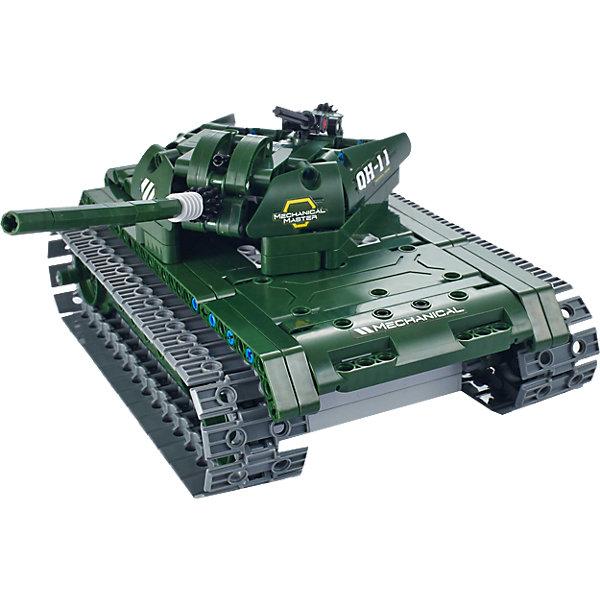 Конструктор электромеханический Tank, 453 детали, QiHuiПластмассовые конструкторы<br>Конструктор электромеханический Tank, 453 детали, QiHui<br><br>Характеристики:<br><br>• Возраст: от 7 лет<br>• Количество деталей: 453<br>• В комплекте: инструкция, детали для сборки, пульт управления и антенна, аккумулятор, зарядное устройство<br>• Дальность действия: 20 метров<br>• Максимальная скорость: 11 км/ч<br><br>Этот конструктор рекомендуется для игр детей от 7 лет. В процессе работы с ним ребенок может не только увлечься и провести долгое время за изучением набора, но и развивать свое пространственное мышление, мелкую моторику и, конечно, воображение. Этот набор позволяет ребенку собрать себе настоящий радиоуправляемый танк! <br><br>В комплект входит конструктор для сборки танка, пульт радиоуправления и аккумулятор. Дальность действия пульта составляет 20 метров. Готовый танк может ездить вперед-назад и поворачивать влево-вправо. Его максимальная скорость – 11 км/ч. <br><br>Конструктор электромеханический Tank, 453 детали, QiHui можно купить в нашем интернет-магазине.<br>Ширина мм: 370; Глубина мм: 520; Высота мм: 65; Вес г: 1080; Возраст от месяцев: 72; Возраст до месяцев: 2147483647; Пол: Мужской; Возраст: Детский; SKU: 5430821;