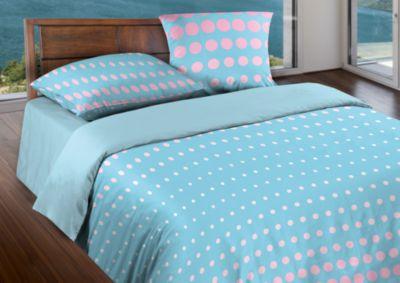 Комплект постельного белья БИО Комфорт Dot Pink-Sky , 1,5 спальное, Wenge