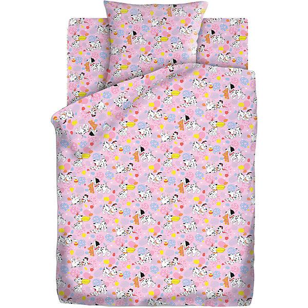 Детское постельное белье 3 предмета Кошки-мышки, Далматинцы, розовыйДетское постельное бельё<br>Комплект детского постельного белья Далматинцы, бязь, Кошки-мышки<br><br>Характеристики:<br><br>• прочное и износостойкое<br>• хорошо пропускает воздух<br>• натуральные красители<br>• в комплекте: простыня, наволочка, пододеяльник<br>• размер простыни: 150х110 см<br>• размер наволочки: 40х60 см<br>• размер пододеяльника: 112х147 см<br>• материал: бязь (100% хлопок)<br>• плотность: 98 г/м2<br>• тип комплекта: 1,5-спальный<br>• размер упаковки: 5х20х30 см<br>• вес: 800 грамм<br>• цвет: розовый<br><br>Постельное белье с изображением милейших далматинцев поднимет настроение перед сном и подарит комфорт на всю ночь. Комплект белья изготовлен из хлопковой бязи высокого качества. Бязь хорошо пропускает воздух, а также обладает такими качествами как износостойкость и прочность. Белье не меняет цвет и размер даже после многочисленных стирок. Комплект состоит из наволочки, пододеяльника и простыни.<br><br>Комплект детского постельного белья Далматинцы, бязь, Кошки-мышки вы можете купить в нашем интернет-магазине.<br>Ширина мм: 300; Глубина мм: 200; Высота мм: 50; Вес г: 800; Возраст от месяцев: 36; Возраст до месяцев: 216; Пол: Женский; Возраст: Детский; SKU: 5430853;