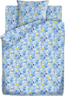 Детское постельное белье 3 предмета Кошки-мышки, Далматинцы, голубой