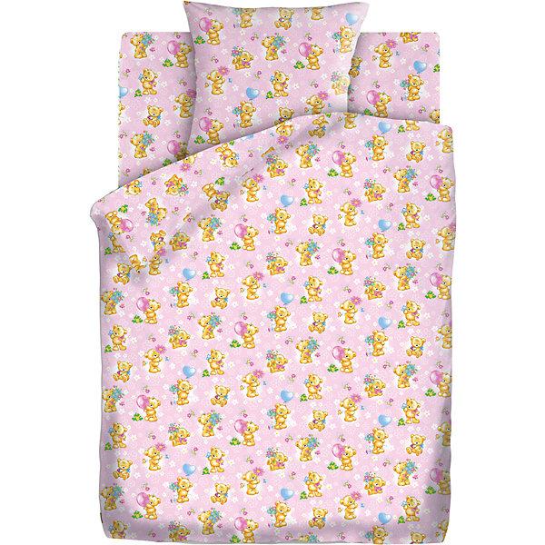 Детское постельное белье 3 предмета Кошки-мышки, Мишки-игрушки, розовыйДетское постельное бельё<br>Комплект детского постельного белья Мишки-Игрушки, бязь, Кошки-мышки<br><br>Характеристики:<br><br>• прочное и износостойкое<br>• хорошо пропускает воздух<br>• натуральные красители<br>• в комплекте: простыня, наволочка, пододеяльник<br>• размер простыни: 150х110 см<br>• размер наволочки: 40х60 см<br>• размер пододеяльника: 112х147 см<br>• материал: бязь (100% хлопок)<br>• плотность: 98 г/м2<br>• размер упаковки: 5х20х30 см<br>• вес: 800 грамм<br>• цвет: розовый<br><br>Очаровательные медвежата позаботятся о сне вашего малыша. Комплект постельного белья изготовлен из хлопковой бязи плотностью 98 г/м2. Белье хорошо пропускает воздух, позволяя коже дышать во время отдыха. Белье приятно на ощупь и гипоаллергенно. Специальная технология окрашивания препятствует вымыванию красителей, чтобы малыш еще долго мог любоваться рисунком. Комплект украшен изображением разных медвежат, играющих с игрушками. Кроха с удовольствием будет рассматривать их перед сном! <br><br>Комплект детского постельного белья Мишки-Игрушки, бязь, Кошки-мышки можно купить в нашем интернет-магазине.<br><br>Ширина мм: 300<br>Глубина мм: 200<br>Высота мм: 50<br>Вес г: 800<br>Возраст от месяцев: 36<br>Возраст до месяцев: 216<br>Пол: Женский<br>Возраст: Детский<br>SKU: 5430856