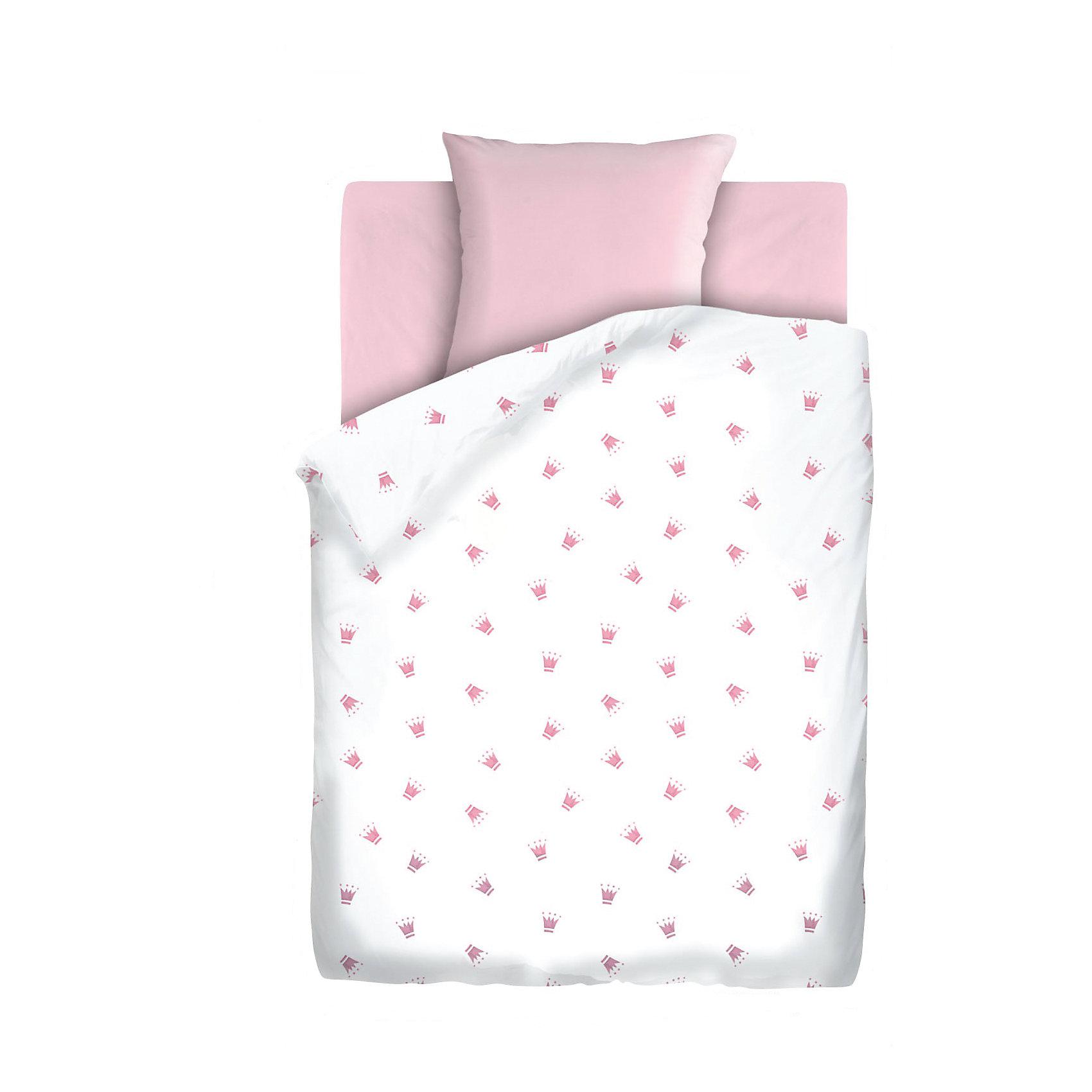 Постельное белье 1,5 сп. на резинке Коронки, бязь, Непоседа, розовыйДомашний текстиль<br>Комплект детского постельного белья на резинке Коронки, бязь, Непоседа, розовый<br><br>Характеристики:<br><br>• прочное и износостойкое<br>• хорошо пропускает воздух<br>• удобная резинка<br>• в комплекте: простыня, наволочка, пододеяльник<br>• размер простыни: 150х110 см<br>• размер наволочки: 40х60 см<br>• размер пододеяльника: 112х147 см<br>• материал: бязь (100% хлопок)<br>• размер упаковки: 5х20х30 см<br>• вес: 800 грамм<br>• цвет: розовый<br><br>Даже во сне юным принцессам необходима корона. Постельное белье Коронки поможет малышке выбрать подходящий головной убор, достойный королевы. Белье изготовлено из качественной бязи, которая хорошо пропускает воздух и обладает высокой прочностью. Белье очень приятно на ощупь и практически не мнется. Натуральные красители не вымываются при стирках. Удобная резинка позволит вам закрепить белье на кроватке, чтобы ребенок мог спать с комфортом всю ночь.<br><br>Комплект детского постельного белья на резинке Коронки, бязь, Непоседа, розовый можно купить в нашем интернет-магазине.<br><br>Ширина мм: 300<br>Глубина мм: 200<br>Высота мм: 50<br>Вес г: 800<br>Возраст от месяцев: 36<br>Возраст до месяцев: 216<br>Пол: Унисекс<br>Возраст: Детский<br>SKU: 5430858