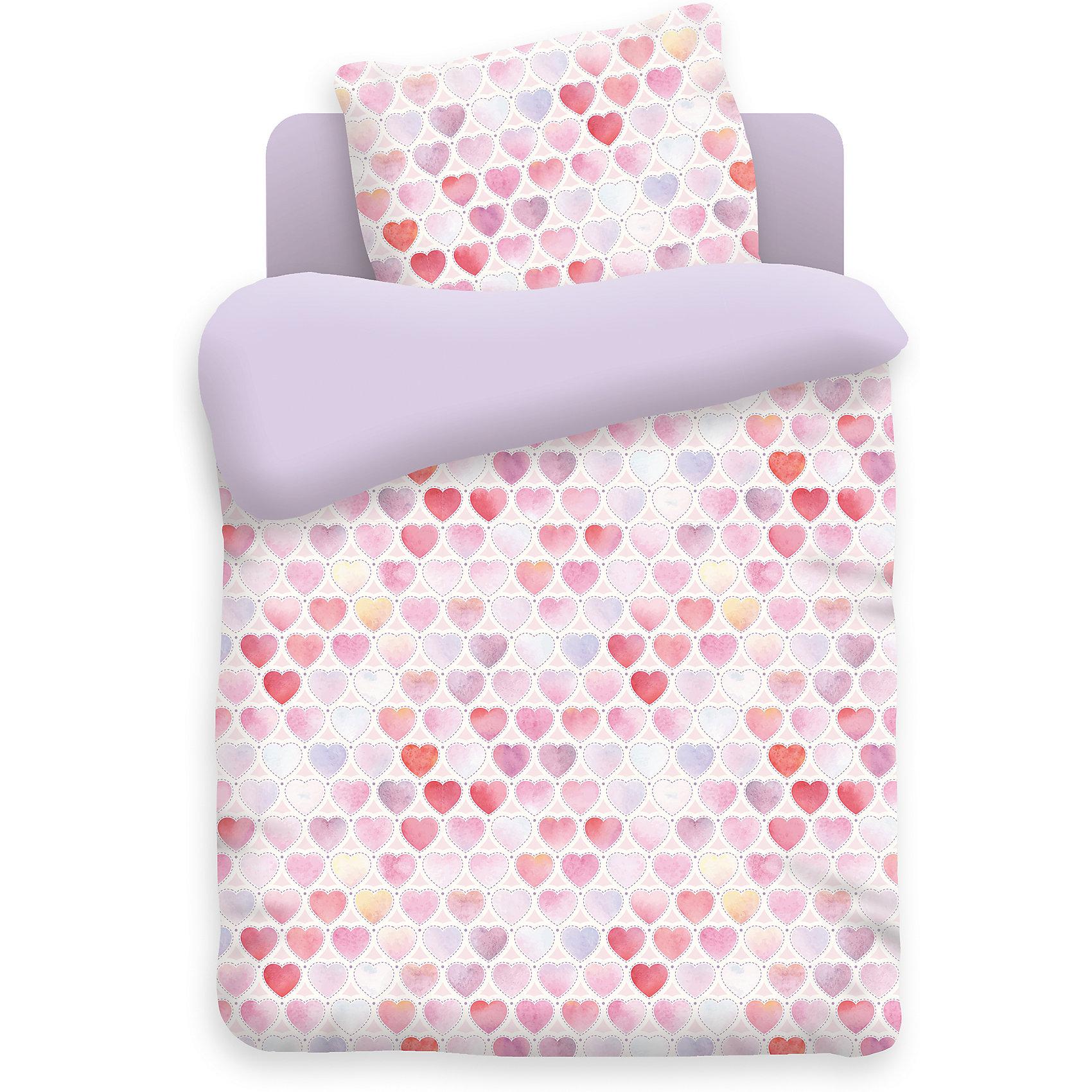 Постельное белье 1,5 сп. на резинке Сердечки, бязь, Непоседа, фиолетовыйДомашний текстиль<br>Комплект детского постельного белья на резинке Сердечки, бязь, Непоседа, фиолетовый<br><br>Характеристики:<br><br>• прочное и износостойкое<br>• хорошо пропускает воздух<br>• удобная резинка<br>• в комплекте: простыня, наволочка, пододеяльник<br>• размер простыни: 150х110 см<br>• размер наволочки: 40х60 см<br>• размер пододеяльника: 112х147 см<br>• материал: бязь (100% хлопок)<br>• плотность: 98 г/м2<br>• размер упаковки: 5х20х30 см<br>• вес: 800 грамм<br>• цвет: фиолетовый<br><br>Белье, украшенное узором из сердечек - то, что нужно для сладких снов маленькой принцессы! Комплект изготовлен из мягкой, прочной бязи, гарантирующей белью высокую износостойкость. Бязь позволяет коже ребенка дышать, хорошо пропуская воздух. Красители на натуральной основе не вызывают аллергии и не вымываются при стирках. Удобная резинка позволит вам закрепить белье на кровати.<br><br>Комплект детского постельного белья на резинке Сердечки, бязь, Непоседа, фиолетовый вы можете купить в нашем интернет-магазине.<br><br>Ширина мм: 300<br>Глубина мм: 200<br>Высота мм: 50<br>Вес г: 800<br>Возраст от месяцев: 36<br>Возраст до месяцев: 216<br>Пол: Женский<br>Возраст: Детский<br>SKU: 5430859