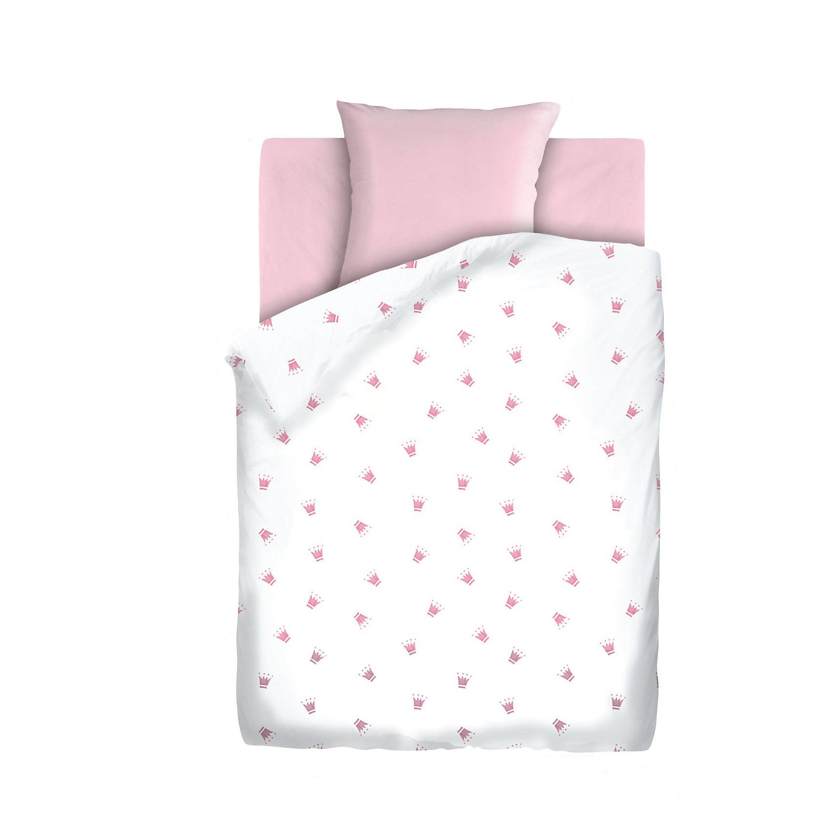 Постельное белье 1,5 сп. на резинке Коронки, бязь, Непоседа, розовыйДомашний текстиль<br>Комплект детского постельного белья на резинке Коронки, бязь, Непоседа, розовый<br><br>Характеристики:<br><br>• прочное и износостойкое<br>• хорошо пропускает воздух<br>• удобная резинка<br>• в комплекте: простыня, наволочка, пододеяльник<br>• размер простыни: 150х110 см<br>• размер наволочки: 40х60 см<br>• размер пододеяльника: 112х147 см<br>• материал: бязь (100% хлопок)<br>• размер упаковки: 5х20х30 см<br>• вес: 800 грамм<br>• цвет: розовый<br><br>Даже во сне юным принцессам необходима корона. Постельное белье Коронки поможет малышке выбрать подходящий головной убор, достойный королевы. Белье изготовлено из качественной бязи, которая хорошо пропускает воздух и обладает высокой прочностью. Белье очень приятно на ощупь и практически не мнется. Натуральные красители не вымываются при стирках. Удобная резинка позволит вам закрепить белье на кроватке, чтобы ребенок мог спать с комфортом всю ночь.<br><br>Комплект детского постельного белья на резинке Коронки, бязь, Непоседа, розовый можно купить в нашем интернет-магазине.<br><br>Ширина мм: 300<br>Глубина мм: 200<br>Высота мм: 50<br>Вес г: 800<br>Возраст от месяцев: -2147483648<br>Возраст до месяцев: 2147483647<br>Пол: Женский<br>Возраст: Детский<br>SKU: 5430861