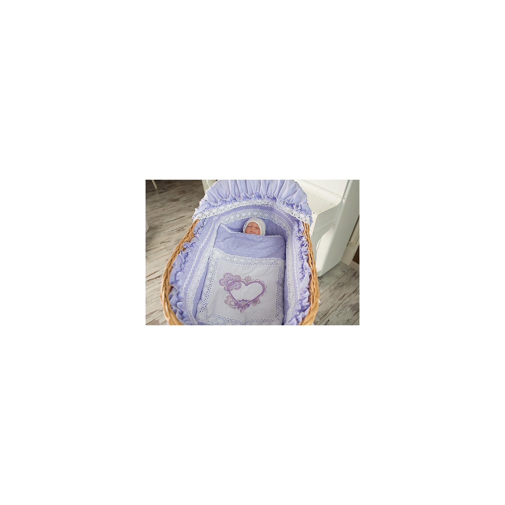 Люлька плетеная на колесах, GulSara сиреневый от myToys