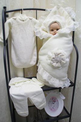 Комплект на выписку 7 пред., GulSara, 150.1 вязанное одеяло зима