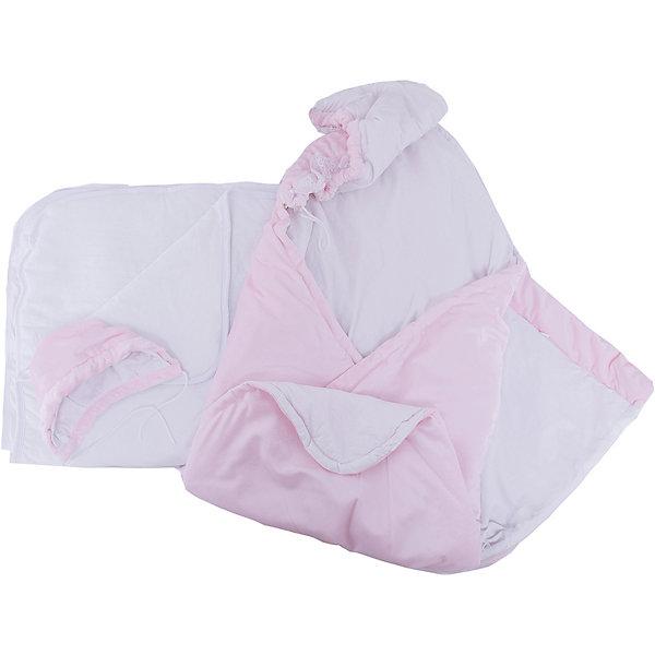 Комплект на выписку 6 пред., GulSara, 152 весна-осеньОдеяло трансформер розовыйДетские конверты<br>Характеристики:<br><br>• Вид детского текстиля: комплект на выписку<br>• Предназначение: на выписку, для прогулки<br>• Сезон: весна, осень<br>• Утеплитель: средняя степень<br>• Температурный режим: от -10? С до +20? С<br>• Пол: для девочки<br>• Тематика рисунка: без рисунка<br>• Материал: вельбоа, кулирка<br>• Цвет: розовый, белый<br>• Комплектация:<br> одеяло-трансформер – 1 шт. р-р 100*100 см<br> шапочка на синтепоне – 1 шт. р-р 56-36<br> одеяло на синтепоне – 1 шт. р-р 90*90 см<br> ползунки – 1 шт. р-р 56-36<br> распашонка – 1 шт. р-р 56-36<br> чепчик – 1 шт. р-р 56-36<br>• Декоративные элементы: кружево, жабо <br>• Особенности ухода: машинная стирка при температуре 30 градусов без использования отбеливающих и красящих веществ<br><br>Комплект на выписку 6 пред., GulSara, 152 весна-осень Одеяло трансформер розовый от отечественного швейного производства, который выпускает современный текстиль и товары для новорожденных, изготовленных на основе вековых традиций. В своем производстве GulSara использует только экологичные и натуральные материалы, что обеспечивает их безопасность даже для малышей с чувствительной кожей. Набор предназначен для выписки в осенне-весенний период и состоит из одеяла и шапочки, выполненных из вельбоа (мягкая ткань с нежным ворсом). <br><br>В качестве утеплителя использован синтепон – легкий, но при этом гипоаллергенный материал. Дополнительно в наборе предусмотрено синтепоновое одеяло. Комплект нижней одежды состоит из ползунков, распашонки и чепчика, изготовленных из кулирки. Одеяло-трансформер декорировано рюшами из кружева и кружевного жабо. Комплект на выписку 6 пред., GulSara, 152 весна-осень Одеяло трансформер розовый создаст изысканный и неповторимый образ вашего малыша!<br><br>Комплект на выписку 6 пред., GulSara, 152 весна-осень Одеяло трансформер розовый можно купить в нашем интернет-магазине.<br>Ширина мм: 750; Глубина мм: 400; Высо
