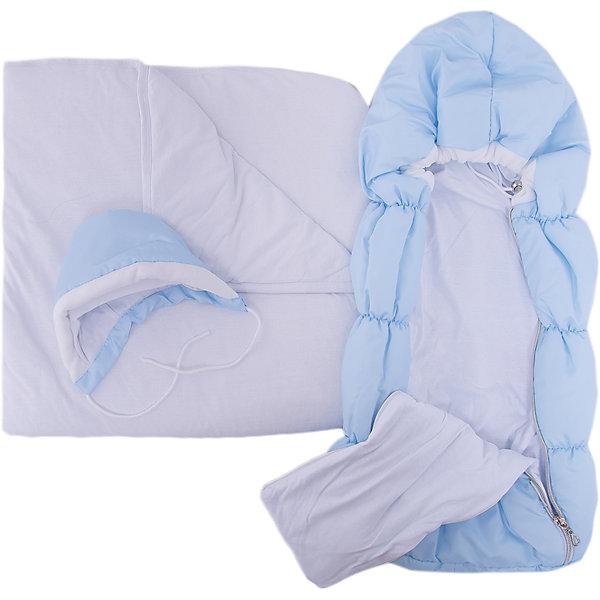 Комплект на выписку 8 пред., GulSara, 116 весна-осень голубойДетские конверты<br>Характеристики:<br><br>• Вид детского текстиля: комплект на выписку<br>• Предназначение: на выписку, для прогулки<br>• Сезон: весна, осень<br>• Утеплитель: средняя степень утепления<br>• Температурный режим: от -10? С до +20? С <br>• Пол: для мальчика<br>• Тематика рисунка: без рисунка<br>• Материал: плащевка, кулирка, интерлок<br>• Цвет: голубой, молочный<br>• Комплектация:<br> конверт на синтепоне – 1 шт. р-р 75*40 см<br> одеяло на синтепоне – 1 шт. р-р 100*100 см<br> шапочка на синтепоне – 1 шт. р-р 56-36<br> спальный мешок – 1 шт. р-р 56-36<br> ползунки – 1 шт. р-р 56-36<br> распашонка – 1 шт. р-р 56-36<br> чепчик – 1 шт. р-р 56-36<br>• Особенности ухода: машинная стирка при температуре 30 градусов без использования отбеливающих и красящих веществ<br><br>Комплект на выписку 8 пред., GulSara, 116 стразы весна-осень голубой от отечественного швейного производства, который выпускает современный текстиль и товары для новорожденных, изготовленных на основе вековых традиций. В своем производстве GulSara использует только экологичные и натуральные материалы, что обеспечивает их безопасность даже для малышей с чувствительной кожей. <br><br>Набор предназначен для выписки в демисезонный период и состоит из конверта, одеяла и чепчика, выполненных из однотонной плащевки. У конверта предусмотрены две застежки-молнии по бокам на передней полочке. Среднюю степень утепления конверту и одеялу обеспечивает синтепон, который имеет легкий вес и является гипоаллергенным материалом. Для промежуточного слоя одежды предусмотрен спальный мешок на молнии. Комплект нижней одежды состоит из ползунков, распашонки и чепчика. <br><br>Комплект на выписку 8 пред., GulSara, 116 стразы весна-осень голубой создаст изысканный и неповторимый образ вашего малыша!<br><br>Комплект на выписку 8 пред., GulSara, 116 стразы весна-осень голубой можно купить в нашем интернет-магазине.<br><br>Ширина мм: 750<br>Глубина мм: 400<br>