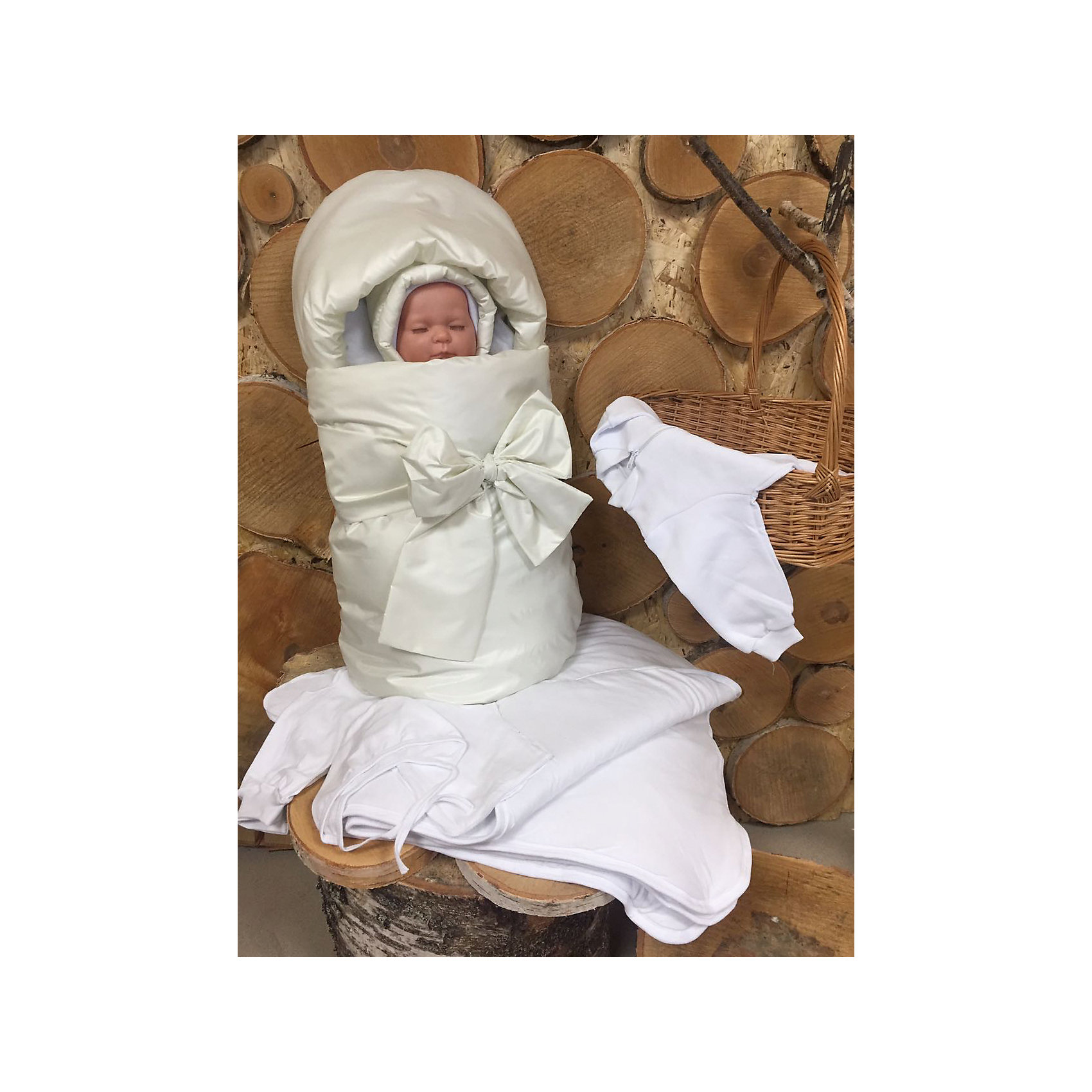 Комплект на выписку 7 пред., GulSara, 119 весна-осеньшампаньКонверты на выписку<br>Характеристики:<br><br>• Вид детского текстиля: комплект на выписку<br>• Предназначение: на выписку, для прогулки<br>• Сезон: весна, осень<br>• Утеплитель: средняя степень утепления<br>• Температурный режим: от -10? С до +20? С <br>• Пол: универсальный<br>• Тематика рисунка: без рисунка<br>• Материал: плащевка, кулирка, интерлок<br>• Цвет: шампань, молочный<br>• Комплектация:<br> конверт на синтепоне – 1 шт. р-р 75*40 см<br> одеяло на синтепоне – 1 шт. р-р 100*100 см<br> шапочка на синтепоне – 1 шт. р-р 56-36<br> спальный мешок – 1 шт. р-р 56-36<br> ползунки – 1 шт. р-р 56-36<br> распашонка – 1 шт. р-р 56-36<br> чепчик – 1 шт. р-р 56-36<br>• Особенности ухода: машинная стирка при температуре 30 градусов без использования отбеливающих и красящих веществ<br><br>Комплект на выписку 7 пред., GulSara, 119 весна-осень шампань от отечественного швейного производства, который выпускает современный текстиль и товары для новорожденных, изготовленных на основе вековых традиций. В своем производстве GulSara использует только экологичные и натуральные материалы, что обеспечивает их безопасность даже для малышей с чувствительной кожей. <br><br>Набор предназначен для выписки в демисезонный период и состоит из конверта, одеяла и чепчика, выполненных из однотонной плащевки. Конверт выполнен в форме кокона. Среднюю степень утепления конверту и одеялу обеспечивает синтепон, который имеет легкий вес и является гипоаллергенным материалом. Для промежуточного слоя одежды предусмотрен спальный мешок на молнии, выполненный из интерлока. Комплект нижней одежды состоит из ползунков, распашонки и чепчика. <br><br>Комплект на выписку 7 пред., GulSara, 119 весна-осень шампань создаст изысканный и неповторимый образ вашего малыша!<br><br>Комплект на выписку 7 пред., GulSara, 119 весна-осень шампань можно купить в нашем интернет-магазине.<br><br>Ширина мм: 750<br>Глубина мм: 400<br>Высота мм: 90<br>Вес г: 1500<br>Во