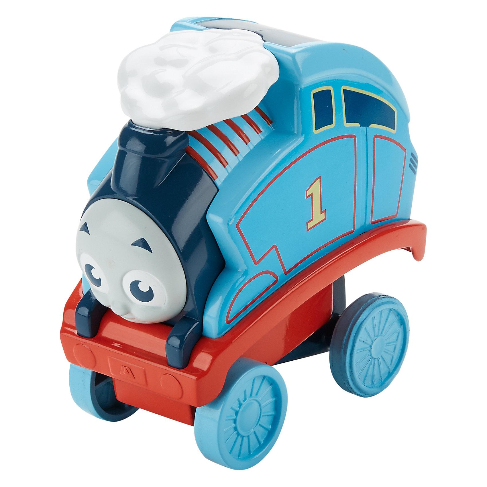 Переворачивающийся паровозик Томас, Томас и его друзьяПопулярные игрушки<br>Характеристики товара:<br><br>• комплектация: паровозик Перси, упаковка<br>• материал: пластик<br>• серия: Thomas &amp; Friends<br>• возраст: от трех лет<br>• габариты упаковки:  8х18х18см<br>• срок годности: не ограничен<br>• страна бренда: США<br><br>Паровозик Томас любит пробовать новые формы игры. Теперь он научился переворачиваться через голову и при этом не падать! Активируется сальто паровозика путем нажатия на специальную кнопку. Стоит отметить, что все товары, выпускаемые компанией Mattel, полностью безопасны и соответствуют международным  требованиям по качеству материалов.<br><br>Товар «Переворачивающийся паровозик Томас, Томас и его друзья» можно приобрести в нашем интернет-магазине.<br><br>Ширина мм: 80<br>Глубина мм: 180<br>Высота мм: 180<br>Вес г: 373<br>Возраст от месяцев: 18<br>Возраст до месяцев: 48<br>Пол: Мужской<br>Возраст: Детский<br>SKU: 5434138