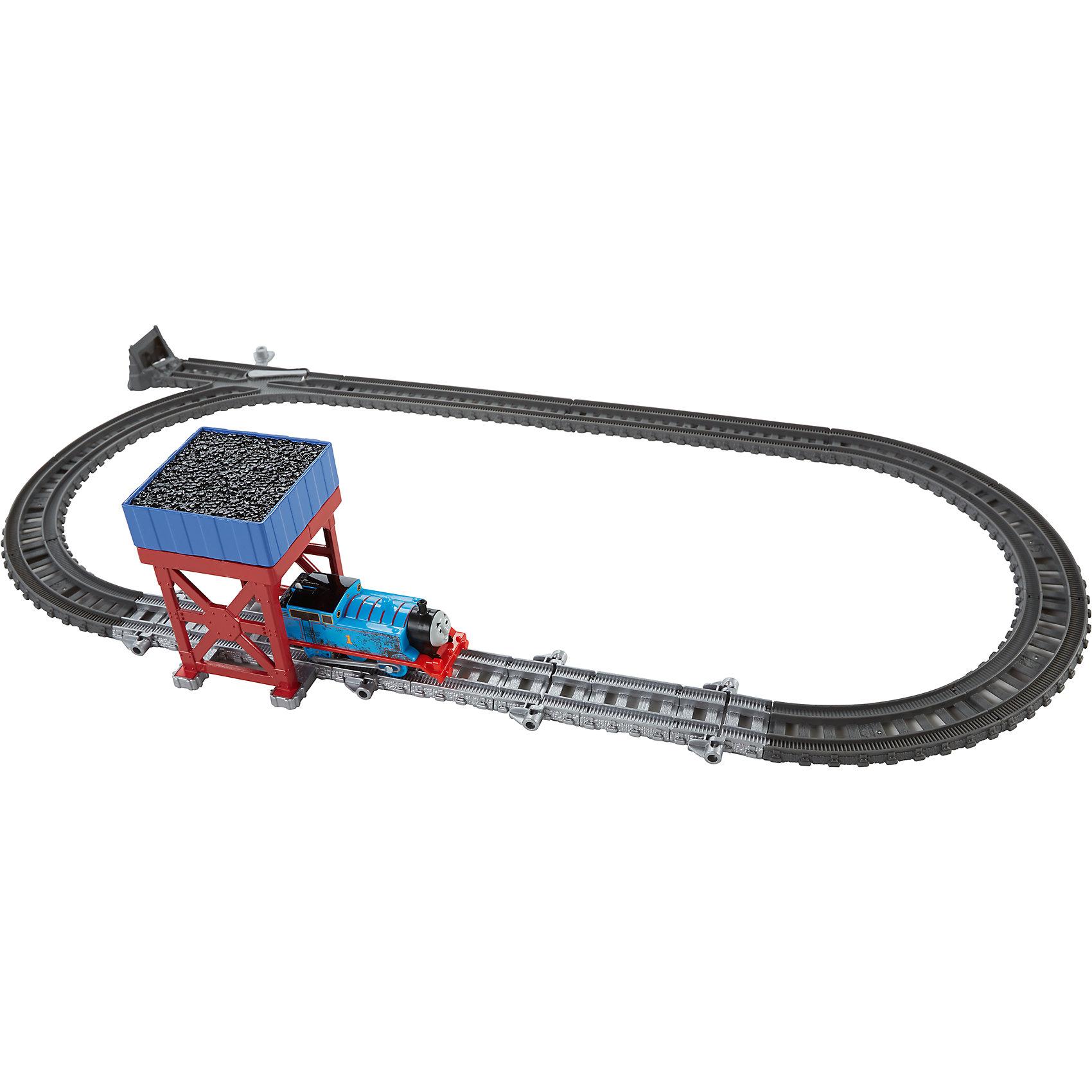 Набор 2-в-1 «Угольный бункер/Водяное колесо», Томас и его друзьяПопулярные игрушки<br>Характеристики товара:<br><br>• комплектация: паравозик Томас, железная дорога<br>• материал: пластик<br>• серия: Thomas &amp; Friends<br>• возраст: от трех лет<br>• габариты упаковки:  5,5х16х26см<br>• срок годности: не ограничен<br>• страна бренда: США<br><br>Дополнение к основной железной дороге – участок с бункером, из которого высыпается уголь! Поднесите паровозик к бункеру, чтобы игрушечный уголь высыпался в специальный пустой вагончик. Стоит отметить, что все товары, выпускаемые компанией Mattel, полностью безопасны и соответствуют международным  требованиям по качеству материалов.<br><br>Товар «Набор 2-в-1 «Угольный бункер/Водяное колесо», Томас и его друзья» можно приобрести в нашем интернет-магазине.<br><br>Ширина мм: 65<br>Глубина мм: 240<br>Высота мм: 330<br>Вес г: 662<br>Возраст от месяцев: 36<br>Возраст до месяцев: 120<br>Пол: Мужской<br>Возраст: Детский<br>SKU: 5434139