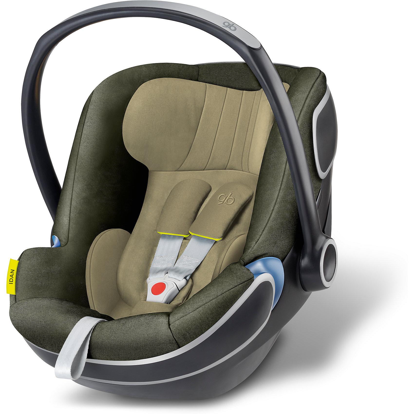 Автокресло GB Idan, 0-13 кг, Lizard KhakiiГруппа 0+ (До 13 кг)<br>Характеристики автокресла-переноски Idan+:<br><br>• группа: 0+<br>• вес ребенка: до 13 кг;<br>• возраст ребенка: от рождения до 12 месяцев;<br>• способ крепления: база Isofix Baseс GB или с помощью штатных ремней безопасности автомобиля;<br>• способ установки: против хода движения;<br>• материал: пластик, полиэстер;<br>• пластиковая ручка, люлька-переноска;<br>• положение ручки регулируется;<br>• 3-х точечные ремни безопасности с мягкими накладками;<br>• усиленная защита от боковых ударов;<br>• регулируется высота подголовника;<br>• имеется вкладыш для новорожденного;<br>• съемные чехлы, стирка при температуре 30 градусов;<br>• на шасси коляски GB Maris автокресло устанавливается без адаптеров, на шасси колясок GB и Cybex – с помощью адаптеров – нет в комплекте, приобретаются отдельно. <br><br>Размер автокресла: 68х44х37-57 см<br>Вес автокресла: 4,7 кг<br><br>Автокресло Idan, 0-13 кг, GB, Lizard Khakii можно купить в нашем интернет-магазине.<br><br>Ширина мм: 730<br>Глубина мм: 460<br>Высота мм: 650<br>Вес г: 6900<br>Возраст от месяцев: 6<br>Возраст до месяцев: 36<br>Пол: Унисекс<br>Возраст: Детский<br>SKU: 5434469