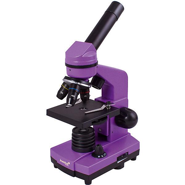 Микроскоп Levenhuk Rainbow 2L Amethyst\АметистМикроскопы<br>Характеристики товара:<br><br>• материал: металл, пластик<br>• увеличение: до 400 крат<br>• объективы: 4х, 10х, 40х<br>• подсветка: светодиодная<br>• подсветка работает от батареек 3хАА<br>• комплектация: микроскоп, окуляр WF16х, предметный столик с зажимами, диск с диафрагмами, адаптер питания от сети (питание 110-220 В, 50 Гц), инструкция по эксплуатации и гарантийный талон, пинцет, инкубатор для артемии, микротом, флакон с дрожжами, флакон со смолой для изготовления препаратов, флакон с морской солью, флакон с артемией (морским рачком), 5 готовых образцов и 5 чистых предметных стекол, пипетка<br>• диаметр окулярной трубки: 23,2 мм<br>• страна бренда: США<br>• страна производства: КНР<br><br>Собственный микроскоп - это отличный способ заинтересовать ребенка наукой и привить ему интерес к учебе. Эта модель микроскопа была разработана специально для детей - он позволяет увеличивать препарат в 400 крат, с помощью этого дети могут исследовать состав и структуру разнообразных предметов, веществ и организмов. Благодаря стильному дизайну этот микроскоп отлично вписывается в интерьер!<br><br>Оптические приборы от американской компании Levenhuk уже успели зарекомендовать себя как качественная и надежная продукция. Для их производства используются только безопасные и проверенные материалы. Такой прибор способен прослужить долго. Подарите ребенку интересную и полезную вещь!<br><br>Микроскоп Levenhuk Rainbow 2L Amethyst\Аметист от известного бренда Levenhuk (Левенгук) можно купить в нашем интернет-магазине.<br><br>Ширина мм: 230<br>Глубина мм: 150<br>Высота мм: 370<br>Вес г: 1530<br>Возраст от месяцев: 60<br>Возраст до месяцев: 2147483647<br>Пол: Унисекс<br>Возраст: Детский<br>SKU: 5435265