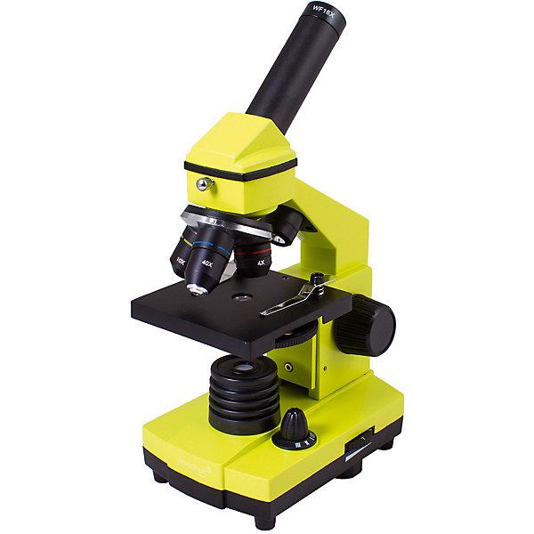 Микроскоп Levenhuk Rainbow 2L PLUS Lime\ЛаймМикроскопы<br>Характеристики товара:<br><br>• материал: металл, пластик<br>• увеличение: до 640 крат<br>• набор для опытов в комплекте<br>• прочный металлический корпус<br>• подсветка: светодиод<br>• лампа работает от батареек 3хАА<br>• комплектация: микроскоп, объективы: 4х, 10х и 40хs, окуляр: WF16x, Предметный столик с зажимами, диск с диафрагмами, конденсор, встроенные нижний и верхний осветители на светодиодах, сетевой адаптер (питание 220 В, 50 Гц), инструкция по эксплуатации и гарантийный талон, пинцет, инкубатор для артемии, микротом, флакон с дрожжами, флакон со смолой для изготовления препаратов, флакон с морской солью, флакон с артемией (морским рачком), 5 готовых образцов и 5 чистых предметных стекол, пипетка, пылезащитный чехол<br>• страна бренда: США<br>• страна производства: КНР<br><br>Собственный микроскоп - это отличный способ заинтересовать ребенка наукой и привить ему интерес к учебе. Эта модель микроскопа была разработана специально для детей - он позволяет увеличивать препарат в 640 крат, с помощью этого дети могут исследовать состав и структуру разнообразных предметов, веществ и организмов. Благодаря стильному дизайну этот микроскоп отлично вписывается в интерьер!<br><br>Оптические приборы от американской компании Levenhuk уже успели зарекомендовать себя как качественная и надежная продукция. Для их производства используются только безопасные и проверенные материалы. Такой прибор способен прослужить долго. Подарите ребенку интересную и полезную вещь!<br><br>Микроскоп Levenhuk Rainbow 2L PLUS Lime\Лайм от известного бренда Levenhuk (Левенгук) можно купить в нашем интернет-магазине.<br>Ширина мм: 230; Глубина мм: 150; Высота мм: 370; Вес г: 1840; Возраст от месяцев: 60; Возраст до месяцев: 2147483647; Пол: Унисекс; Возраст: Детский; SKU: 5435277;