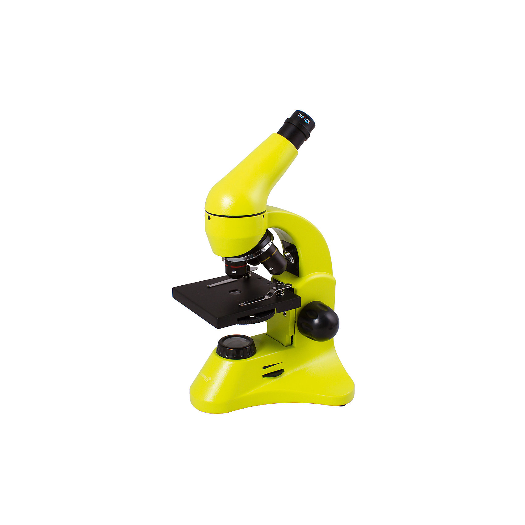 Микроскоп Levenhuk Rainbow 50L PLUS Lime\ЛаймМикроскопы<br>Характеристики товара:<br><br>• материал: металл, пластик<br>• увеличение: до 640 крат<br>• набор для опытов в комплекте<br>• прочный металлический корпус<br>• подсветка: светодиод<br>• лампа работает от батареек 2хАА<br>• комплектация: микроскоп, объективы: 4х, 10х и 40хs, окуляр: WF10x–16x, предметный столик с зажимами, диск с диафрагмами, конденсор, встроенные нижний и верхний осветители на светодиодах, сетевой адаптер (питание 220 В, 50 Гц), инструкция по эксплуатации и гарантийный талон, пинцет, инкубатор для артемии, микротом, флакон с дрожжами, флакон со смолой для изготовления препаратов, флакон с морской солью, флакон с артемией (морским рачком), 5 готовых образцов и 5 чистых предметных стекол, пипетка, пылезащитный чехол<br>• угол наклона окулярной насадки: 45°<br>• страна бренда: США<br>• страна производства: КНР<br><br>Собственный микроскоп - это отличный способ заинтересовать ребенка наукой и привить ему интерес к учебе. Эта модель микроскопа была разработана специально для детей - он позволяет увеличивать препарат в 640 крат, с помощью этого дети могут исследовать состав и структуру разнообразных предметов, веществ и организмов. Благодаря стильному дизайну этот микроскоп отлично вписывается в интерьер!<br><br>Оптические приборы от американской компании Levenhuk уже успели зарекомендовать себя как качественная и надежная продукция. Для их производства используются только безопасные и проверенные материалы. Такой прибор способен прослужить долго. Подарите ребенку интересную и полезную вещь!<br><br>Микроскоп Rainbow 50L PLUS Lime\Лайм от известного бренда Levenhuk (Левенгук) можно купить в нашем интернет-магазине.<br><br>Ширина мм: 180<br>Глубина мм: 405<br>Высота мм: 270<br>Вес г: 3240<br>Возраст от месяцев: 60<br>Возраст до месяцев: 2147483647<br>Пол: Унисекс<br>Возраст: Детский<br>SKU: 5435282