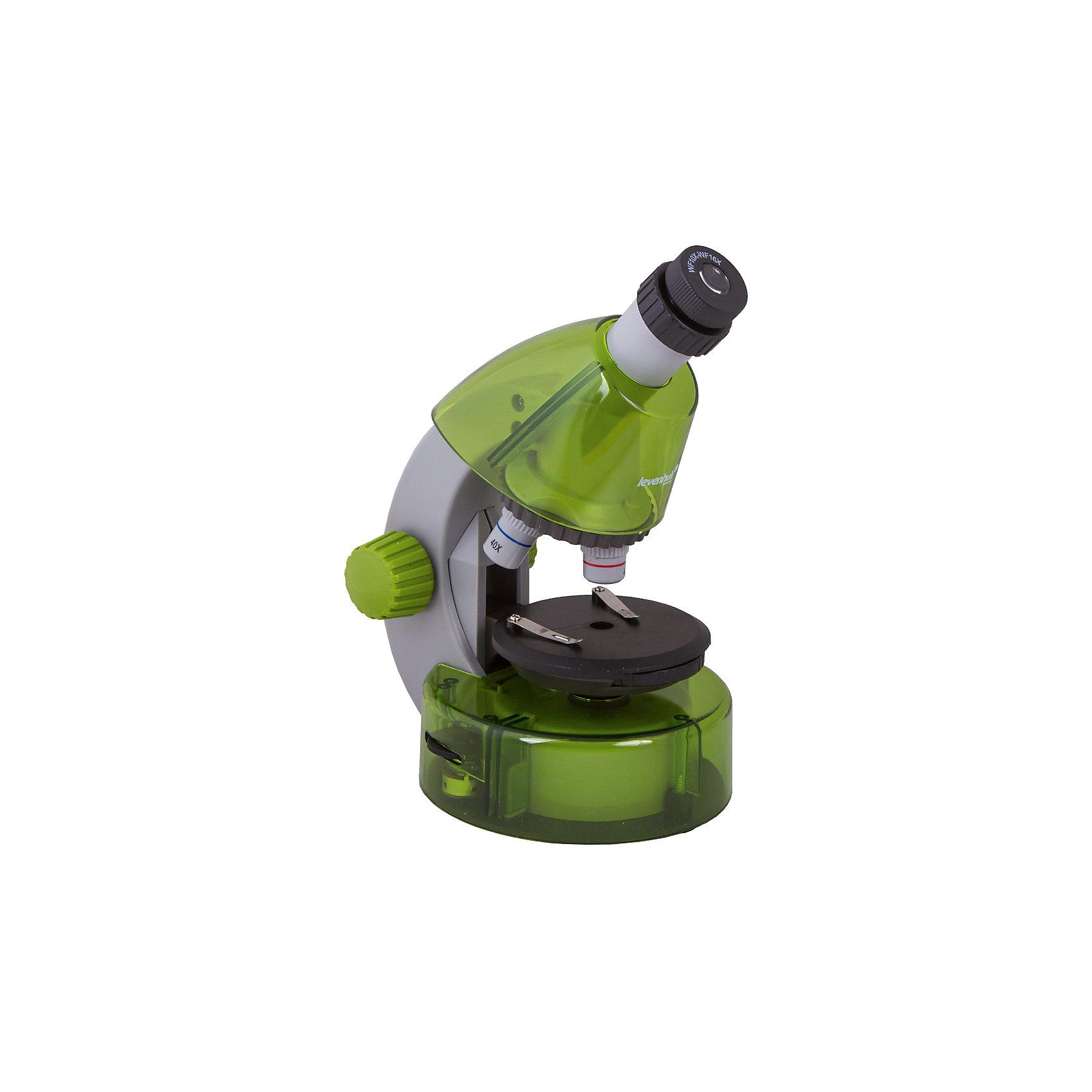 Микроскоп Levenhuk LabZZ M101 Lime\ЛаймХарактеристики товара:<br><br>• материал: металл, пластик<br>• увеличение: до 640 крат<br>• объективы: 4х, 10х, 40х<br>• подсветка: светодиодная<br>• подсветка работает от батареек 2хАА<br>• комплектация: микроскоп, окуляр WF16х, предметный столик с зажимами, диск с диафрагмами, адаптер питания от сети (питание 110-220 В, 50 Гц), инструкция по эксплуатации и гарантийный талон, пинцет, инкубатор для артемии, микротом, флакон с дрожжами, флакон со смолой для изготовления препаратов, флакон с морской солью, флакон с артемией (морским рачком), 5 готовых образцов и 5 чистых предметных стекол, пипетка, пылезащитный чехол<br>• страна бренда: США<br>• страна производства: КНР<br><br>Собственный микроскоп - это отличный способ заинтересовать ребенка наукой и привить ему интерес к учебе. Эта модель микроскопа была разработана специально для детей - он позволяет увеличивать препарат в 640 крат, с помощью этого дети могут исследовать состав и структуру разнообразных предметов, веществ и организмов. Благодаря стильному дизайну этот микроскоп отлично вписывается в интерьер!<br><br>Оптические приборы от американской компании Levenhuk уже успели зарекомендовать себя как качественная и надежная продукция. Для их производства используются только безопасные и проверенные материалы. Такой прибор способен прослужить долго. Подарите ребенку интересную и полезную вещь!<br><br>Микроскоп Levenhuk LabZZ M101 Lime\Лайм от известного бренда Levenhuk (Левенгук) можно купить в нашем интернет-магазине.<br><br>Ширина мм: 130<br>Глубина мм: 185<br>Высота мм: 270<br>Вес г: 930<br>Возраст от месяцев: 60<br>Возраст до месяцев: 2147483647<br>Пол: Унисекс<br>Возраст: Детский<br>SKU: 5435286