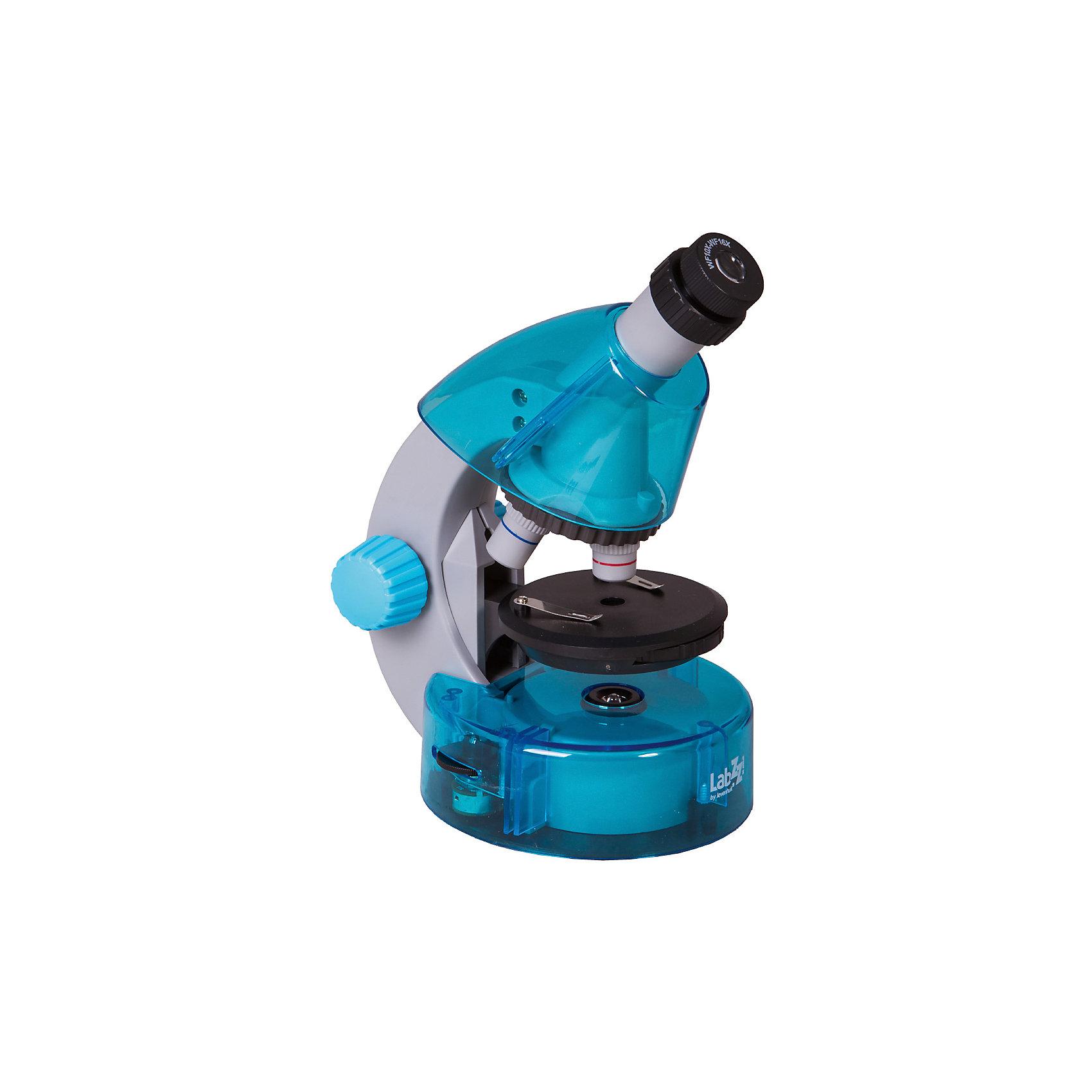 Микроскоп Levenhuk LabZZ M101 Azure\ЛазурьМикроскопы<br>Характеристики товара:<br><br>• материал: металл, пластик<br>• увеличение: до 640 крат<br>• набор для опытов в комплекте<br>• прочный металлический корпус<br>• подсветка: светодиод<br>• лампа работает от батареек 2хАА<br>• комплектация: микроскоп, объективы: 4х, 10х и 40хs, окуляр: WF10x–16x (двухпозиционный), Предметный столик с зажимами, диск с диафрагмами, конденсор, встроенные нижний и верхний осветители на светодиодах, сетевой адаптер (питание 220 В, 50 Гц), инструкция по эксплуатации и гарантийный талон, пинцет, инкубатор для артемии, микротом, флакон с дрожжами, флакон со смолой для изготовления препаратов, флакон с морской солью, флакон с артемией (морским рачком), 5 готовых образцов и 5 чистых предметных стекол, пипетка, пылезащитный чехол<br>• страна бренда: США<br>• страна производства: КНР<br><br>Собственный микроскоп - это отличный способ заинтересовать ребенка наукой и привить ему интерес к учебе. Эта модель микроскопа была разработана специально для детей - он позволяет увеличивать препарат в 640 крат, с помощью этого дети могут исследовать состав и структуру разнообразных предметов, веществ и организмов. Благодаря стильному дизайну этот микроскоп отлично вписывается в интерьер!<br><br>Оптические приборы от американской компании Levenhuk уже успели зарекомендовать себя как качественная и надежная продукция. Для их производства используются только безопасные и проверенные материалы. Такой прибор способен прослужить долго. Подарите ребенку интересную и полезную вещь!<br><br>Микроскоп Levenhuk LabZZ M101 Azure\Лазурь камень от известного бренда Levenhuk (Левенгук) можно купить в нашем интернет-магазине.<br><br>Ширина мм: 130<br>Глубина мм: 185<br>Высота мм: 270<br>Вес г: 930<br>Возраст от месяцев: 60<br>Возраст до месяцев: 2147483647<br>Пол: Унисекс<br>Возраст: Детский<br>SKU: 5435287