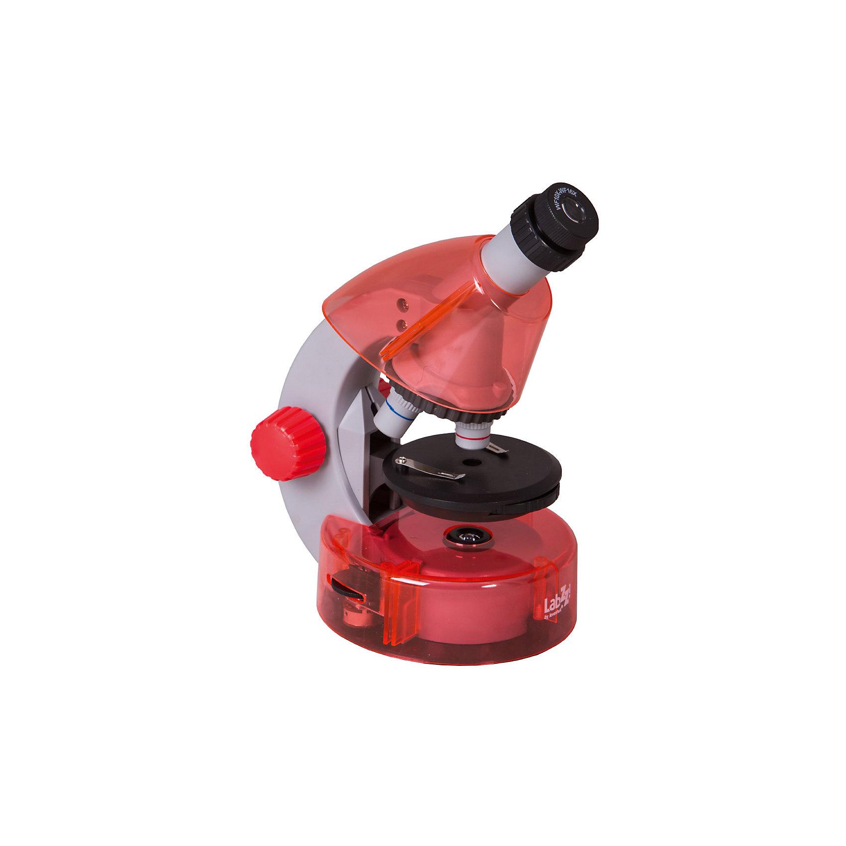 Микроскоп Levenhuk LabZZ M101 Orange\АпельсинМикроскопы<br>Характеристики товара:<br><br>• материал: металл, пластик<br>• увеличение: до 640 крат<br>• объективы: 4х, 10х, 40х<br>• подсветка: светодиодная<br>• подсветка работает от батареек 2хАА<br>• комплектация: микроскоп, окуляр WF16х, предметный столик с зажимами, диск с диафрагмами, адаптер питания от сети (питание 110-220 В, 50 Гц), инструкция по эксплуатации и гарантийный талон, пинцет, инкубатор для артемии, микротом, флакон с дрожжами, флакон со смолой для изготовления препаратов, флакон с морской солью, флакон с артемией (морским рачком), 5 готовых образцов и 5 чистых предметных стекол, пипетка, пылезащитный чехол<br>• страна бренда: США<br>• страна производства: КНР<br><br>Собственный микроскоп - это отличный способ заинтересовать ребенка наукой и привить ему интерес к учебе. Эта модель микроскопа была разработана специально для детей - он позволяет увеличивать препарат в 640 крат, с помощью этого дети могут исследовать состав и структуру разнообразных предметов, веществ и организмов. Благодаря стильному дизайну этот микроскоп отлично вписывается в интерьер!<br><br>Оптические приборы от американской компании Levenhuk уже успели зарекомендовать себя как качественная и надежная продукция. Для их производства используются только безопасные и проверенные материалы. Такой прибор способен прослужить долго. Подарите ребенку интересную и полезную вещь!<br><br>Микроскоп Levenhuk LabZZ M101 Orange\Апельсин от известного бренда Levenhuk (Левенгук) можно купить в нашем интернет-магазине.<br><br>Ширина мм: 130<br>Глубина мм: 185<br>Высота мм: 270<br>Вес г: 930<br>Возраст от месяцев: 60<br>Возраст до месяцев: 2147483647<br>Пол: Унисекс<br>Возраст: Детский<br>SKU: 5435288