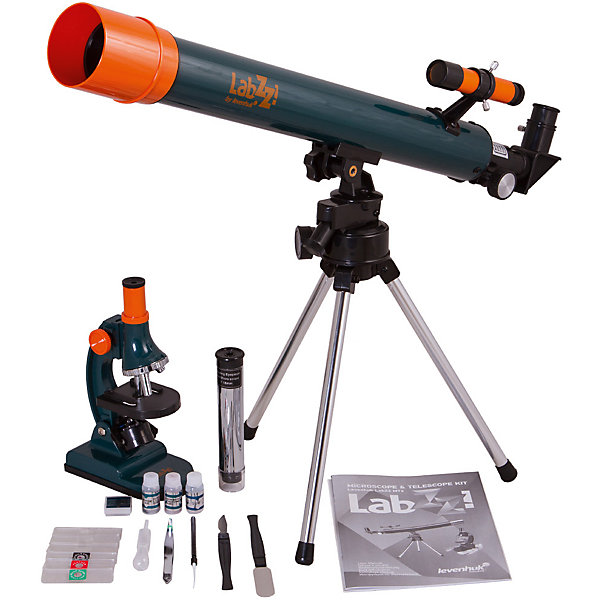 Набор Levenhuk LabZZ MT2: микроскоп и телескопТелескопы<br>Характеристики товара:<br><br>• материал: металл, пластик<br>• увеличение микроскопа: до 900 крат<br>• подсветка микроскопа: светодиодная<br>• подсветка работает от батареек 2хАА<br>• комплектация: микроскоп, набор для опытов, телескоп, тренога<br>• тип телескопа: рефрактор<br>• фокусное расстояние: 500<br>• световой диаметр (Апертура): 50 мм<br>• окуляры: H12,5 мм (50x), оборачивающий окуляр 18 мм (35x)<br>• искатель : оптический, 2х<br>• тренога алюминиевая<br>• тип монтировки: азимутальная<br>• страна бренда: США<br>• страна производства: КНР<br><br>Собственный набор из микроскопа и телескопа - это отличный способ заинтересовать ребенка наукой и привить ему интерес к учебе. Эти модели были разработаны специально для детей - с их помощью дети могут исследовать состав и структуру разнообразных предметов, веществ и организмов, а также наблюдать за различными объектами. Благодаря стильному дизайну этот набор может стать украшением интерьера!<br><br>Оптические приборы от американской компании Levenhuk уже успели зарекомендовать себя как качественная и надежная продукция. Для их производства используются только безопасные и проверенные материалы. Такой прибор способен прослужить долго. Подарите ребенку интересную и полезную вещь!<br><br>Набор Levenhuk LabZZ MT2: микроскоп и телескоп от известного бренда Levenhuk (Левенгук) можно купить в нашем интернет-магазине.<br><br>Ширина мм: 860<br>Глубина мм: 230<br>Высота мм: 100<br>Вес г: 1688<br>Возраст от месяцев: 60<br>Возраст до месяцев: 2147483647<br>Пол: Унисекс<br>Возраст: Детский<br>SKU: 5435292