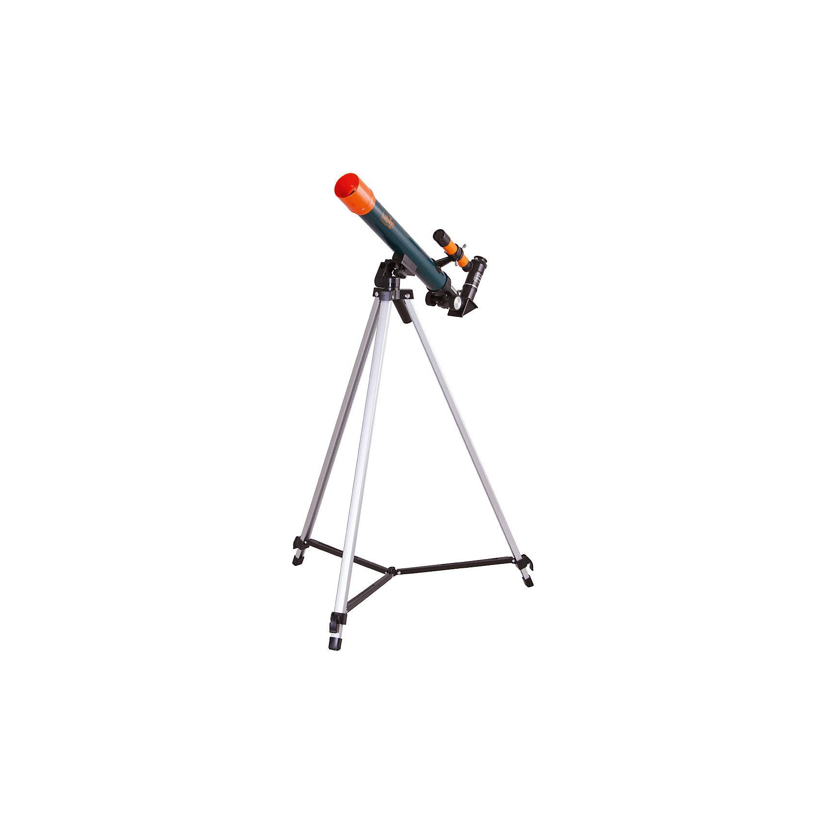 Телескоп Levenhuk LabZZ T1Характеристики товара:<br><br>• материал: металл, пластик<br>• тип телескопа: рефрактор<br>• максимальное полезное увеличение: 40 крат<br>• светосила (относительное отверстие): 12/5<br>• световой диаметр (Апертура): 40 мм<br>• посадочный диаметр окуляров: 0,96, окуляры 20 мм (25х), 12,5 мм (40х), оборачивающий окуляр 1,5х<br>• искатель : оптический, 2х<br>• тренога алюминиевая<br>• высота треноги регулируемая: 650–1150 мм<br>• тип монтировки: азимутальная<br>• комплектация: труба, окуляры, тренога, зеркало<br>• страна бренда: США<br>• страна производства: КНР<br><br>Телескоп - это отличный способ заинтересовать ребенка наблюдениями за наземными объектами и привить ему интерес к учебе. Эта модель была разработана специально для детей - он позволяет увеличивать предметы из космоса и изучать их. Благодаря легкому и прочному корпусу телескоп удобно брать с собой!<br><br>Оптические приборы от американской компании Levenhuk уже успели зарекомендовать себя как качественная и надежная продукция. Для их производства используются только безопасные и проверенные материалы. Такой прибор способен прослужить долго. Подарите ребенку интересную и полезную вещь!<br><br>Телескоп Levenhuk LabZZ T1 от известного бренда Levenhuk (Левенгук) можно купить в нашем интернет-магазине.<br><br>Ширина мм: 730<br>Глубина мм: 220<br>Высота мм: 80<br>Вес г: 1404<br>Возраст от месяцев: 60<br>Возраст до месяцев: 2147483647<br>Пол: Унисекс<br>Возраст: Детский<br>SKU: 5435296