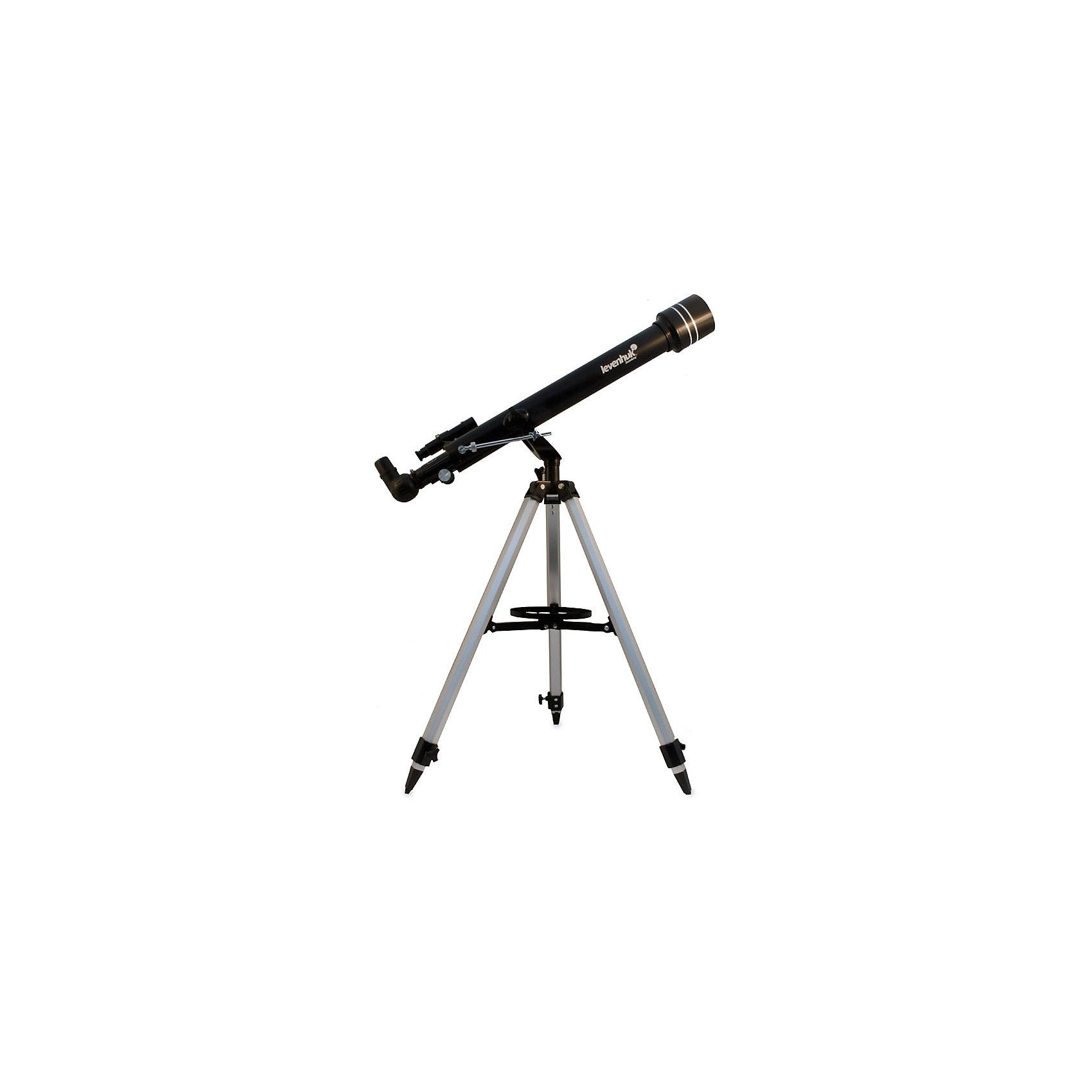 Телескоп Levenhuk Skyline 60x700 AZТелескопы<br>Характеристики товара:<br><br>• материал: металл, пластик<br>• тип телескопа: рефрактор<br>• максимальное полезное увеличение: 120 крат<br>• светосила (относительное отверстие): f/12<br>• проницающая способность: (звездная величина, приблизительно) 11,4<br>• окуляры в комплекте: 20 мм, 4 мм<br>• посадочный диаметр окуляров: 1,25<br>• линза Барлоу в комплекте 3x<br>• искатель оптический: 5x24<br>• высота треноги регулируемая: 690–1190 мм<br>• тип управления телескопом: ручной<br>• тип монтировки: азимутальная<br>• вес: 3,65 кг<br>• страна бренда: США<br>• страна производства: КНР<br><br>Телескоп - это отличный способ заинтересовать ребенка наблюдениями за небесными телами и привить ему интерес к учебе. Эта модель была разработана специально для детей - он позволяет увеличивать предметы из космоса и изучать их. Благодаря легкому и прочному корпусу телескоп удобно брать с собой!<br><br>Оптические приборы от американской компании Levenhuk уже успели зарекомендовать себя как качественная и надежная продукция. Для их производства используются только безопасные и проверенные материалы. Такой прибор способен прослужить долго. Подарите ребенку интересную и полезную вещь!<br><br>Телескоп Levenhuk Skyline 50x600 AZ от известного бренда Levenhuk (Левенгук) можно купить в нашем интернет-магазине.<br><br>Ширина мм: 828<br>Глубина мм: 248<br>Высота мм: 165<br>Вес г: 3650<br>Возраст от месяцев: 60<br>Возраст до месяцев: 2147483647<br>Пол: Унисекс<br>Возраст: Детский<br>SKU: 5435301
