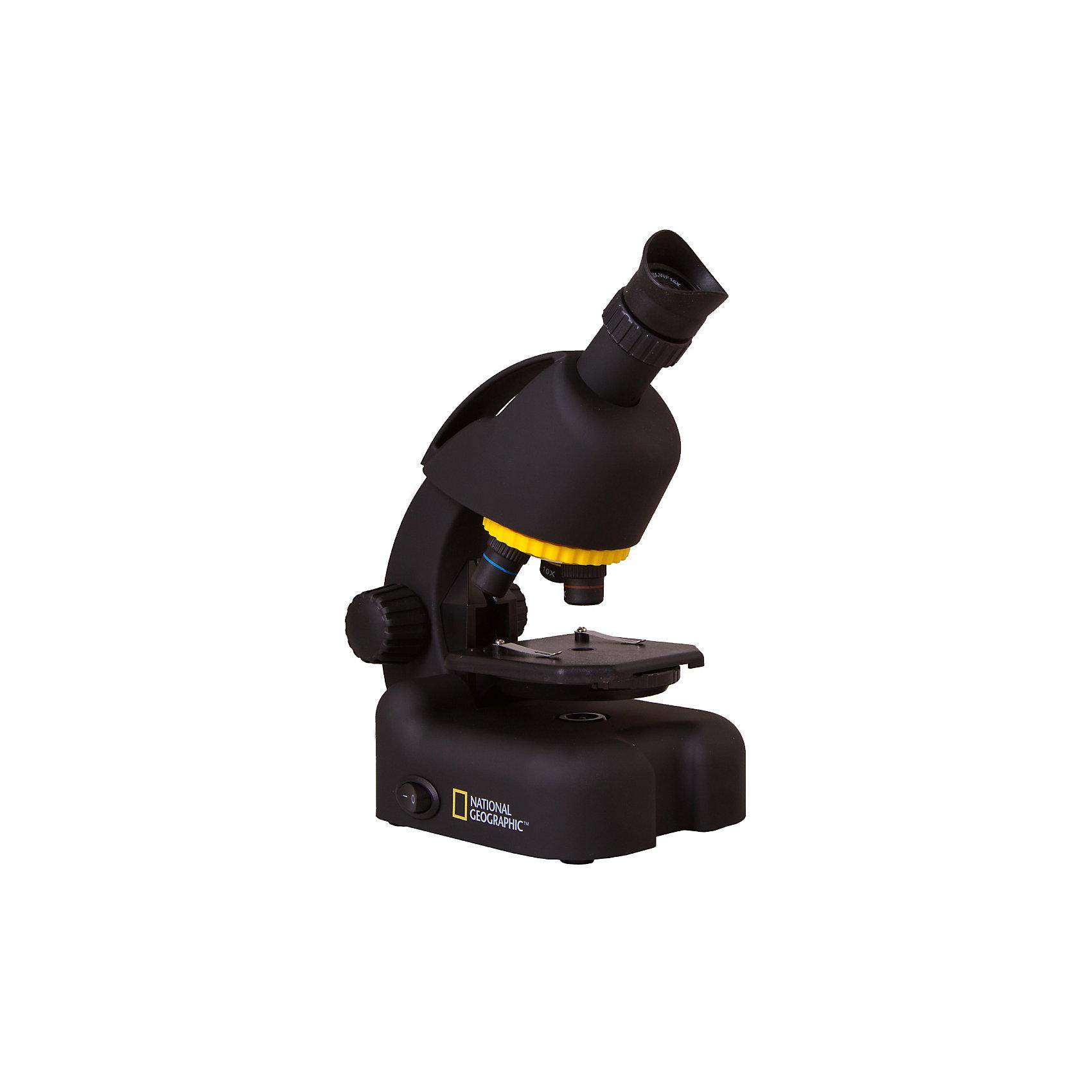 Микроскоп Bresser National Geographic 40–640x, с адаптером для смартфонаМикроскопы<br>Характеристики товара:<br><br>• материал: металл, пластик<br>• увеличение: до 640 крат<br>• объективы: 4х, 10х, 40х<br>• подсветка: светодиодная<br>• подсветка работает от батареек 2хАА<br>• вес: 0,92 кг<br>• размер: 22х16х11 см<br>• комплектация: микроскоп, окуляр WF10x–WF16, объективы, набор для опытов, готовые препараты<br>• страна бренда: Германия<br><br>В этом наборе есть всё необходимое, чтобы приступить к опытам немедленно! Собственный микроскоп - это отличный способ заинтересовать ребенка наукой и привить ему интерес к учебе. Эта модель микроскопа была разработана специально для детей - он позволяет увеличивать препарат в 640 крат, с помощью этого дети могут исследовать состав и структуру разнообразных предметов, веществ и организмов. Благодаря стильному дизайну этот микроскоп отлично вписывается в интерьер!<br><br>Оптические приборы от немецкой компании Bresser уже успели зарекомендовать себя как качественная и надежная продукция. Для их производства используются только безопасные и проверенные материалы. Такой прибор способен прослужить долго. Подарите ребенку интересную и полезную вещь!<br><br>Микроскоп Bresser National Geographic 40–640x, с адаптером для смартфона от известного бренда Bresser (Брессер) можно купить в нашем интернет-магазине.<br><br>Ширина мм: 280<br>Глубина мм: 170<br>Высота мм: 155<br>Вес г: 920<br>Возраст от месяцев: 60<br>Возраст до месяцев: 2147483647<br>Пол: Унисекс<br>Возраст: Детский<br>SKU: 5435306