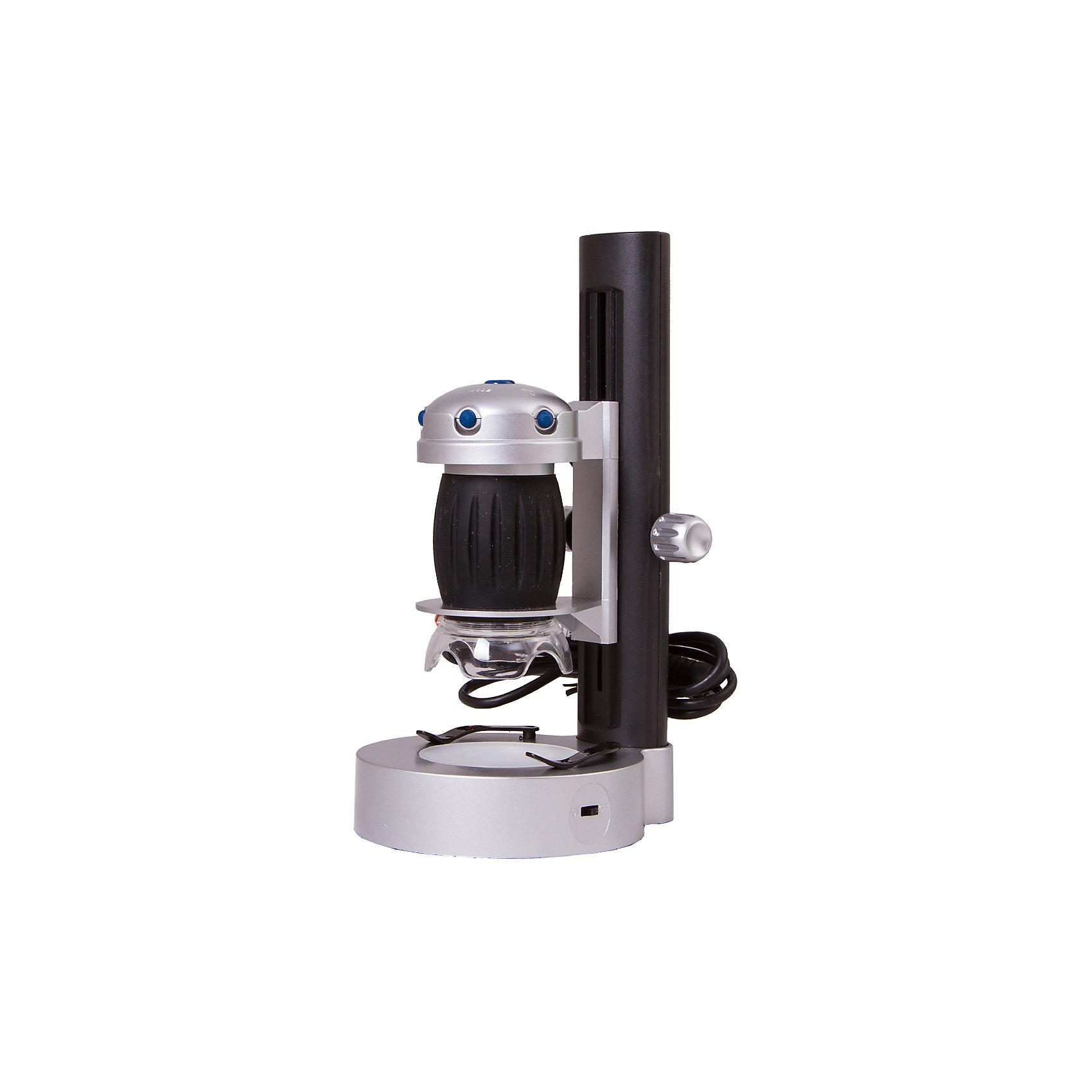 Микроскоп цифровой Bresser National Geographic USB, со штативомМикроскопы<br>Характеристики товара:<br><br>• материал: металл, пластик<br>• цифровой<br>• увеличение: до 200 крат<br>• системные требования: Win XP SP2, Win Vista/7, не менее 1 ГБ оперативной памяти, порт USB 2.0, CD/DVD-Rom<br>• подсветка: светодиодная<br>• подсветка работает от батареек 2хАА<br>• возможность записи фото (кнопка)<br>• вес: 0,67 кг<br>• размер: 23х13х11 см<br>• комплектация: микроскоп, готовые препараты, диск с ПО, штатив<br>• страна бренда: Германия<br><br>В этом наборе есть всё необходимое, чтобы приступить к опытам немедленно! Собственный микроскоп - это отличный способ заинтересовать ребенка наукой и привить ему интерес к учебе. Эта модель микроскопа была разработана специально для детей - он позволяет увеличивать препарат в 640 крат, с помощью этого дети могут исследовать состав и структуру разнообразных предметов, веществ и организмов. Благодаря стильному дизайну этот микроскоп отлично вписывается в интерьер!<br><br>Оптические приборы от немецкой компании Bresser уже успели зарекомендовать себя как качественная и надежная продукция. Для их производства используются только безопасные и проверенные материалы. Такой прибор способен прослужить долго. Подарите ребенку интересную и полезную вещь!<br><br>Микроскоп цифровой Bresser National Geographic USB, со штативом, от известного бренда Bresser (Брессер) можно купить в нашем интернет-магазине.<br><br>Ширина мм: 230<br>Глубина мм: 135<br>Высота мм: 110<br>Вес г: 670<br>Возраст от месяцев: 60<br>Возраст до месяцев: 2147483647<br>Пол: Унисекс<br>Возраст: Детский<br>SKU: 5435308