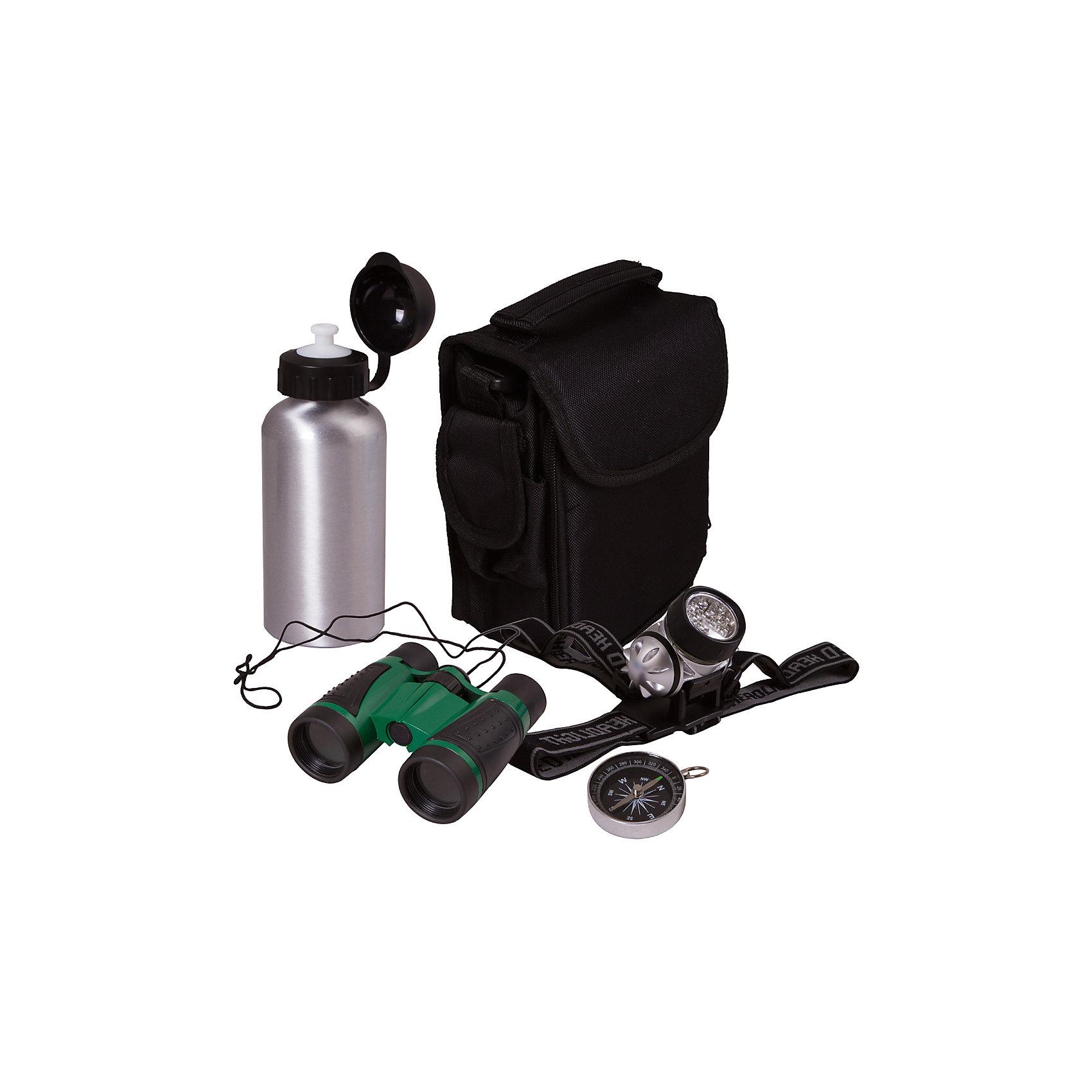 Набор исследователя Bresser Junior с биноклемЭксперименты и опыты<br>Характеристики товара:<br><br>• комплектация: бинокль 4x30, светодиодный налобный фонарь, мини-компас, алюминиевая бутылка для воды, нейлоновая сумка, инструкция<br>• бинокль с четырехкратным увеличением и центральной фокусировкой<br>• бутылка для воды на 400 мл<br>• сумка с множеством отделений<br>• компас на шнурке<br>• страна бренда: Германия<br><br>В этом наборе есть всё необходимое, чтобы отправиться в путешествие или исследование! Собственный набор из таких предметов - это отличный способ заинтересовать ребенка туризмом или наукой и привить ему интерес к учебе. Этот комплект был разработана специально для детей - он позволяет не потеряться на природе и иметь при себе всё необходимое. Благодаря стильному дизайну он впечатляюще смотрится!<br><br>Оптические приборы от немецкой компании Bresser уже успели зарекомендовать себя как качественная и надежная продукция. Для их производства используются только безопасные и проверенные материалы. Такой прибор способен прослужить долго. Подарите ребенку интересную и полезную вещь!<br><br>Набор исследователя Bresser Junior с биноклем от известного бренда Bresser (Брессер) можно купить в нашем интернет-магазине.<br><br>Ширина мм: 215<br>Глубина мм: 210<br>Высота мм: 85<br>Вес г: 610<br>Возраст от месяцев: 60<br>Возраст до месяцев: 2147483647<br>Пол: Унисекс<br>Возраст: Детский<br>SKU: 5435318