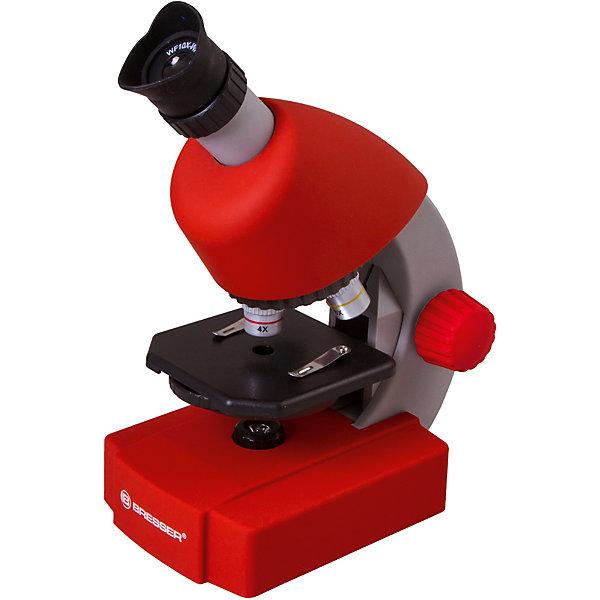 Микроскоп Bresser Junior 40x-640x, красныйМикроскопы<br>Характеристики товара:<br><br>• материал: металл, пластик<br>• увеличение: до 640 крат<br>• объективы: 4х, 10х, 40х<br>• подсветка: светодиодная<br>• подсветка работает от батареек 3хАА<br>• вес: 0,556 кг<br>• размер: 22х16х10 см<br>• комплектация: микроскоп, окуляр WF10x–WF16, объективы, набор для опытов, готовые препараты<br>• страна бренда: Германия<br><br>В этом наборе есть всё необходимое, чтобы приступить к опытам немедленно! Собственный микроскоп - это отличный способ заинтересовать ребенка наукой и привить ему интерес к учебе. Эта модель микроскопа была разработана специально для детей - он позволяет увеличивать препарат в 640 крат, с помощью этого дети могут исследовать состав и структуру разнообразных предметов, веществ и организмов. Благодаря стильному дизайну этот микроскоп отлично вписывается в интерьер!<br><br>Оптические приборы от немецкой компании Bresser уже успели зарекомендовать себя как качественная и надежная продукция. Для их производства используются только безопасные и проверенные материалы. Такой прибор способен прослужить долго. Подарите ребенку интересную и полезную вещь!<br><br>Микроскоп Bresser Junior 40x-640x, красный, от известного бренда Bresser (Брессер) можно купить в нашем интернет-магазине.<br><br>Ширина мм: 280<br>Глубина мм: 155<br>Высота мм: 170<br>Вес г: 860<br>Возраст от месяцев: 60<br>Возраст до месяцев: 2147483647<br>Пол: Унисекс<br>Возраст: Детский<br>SKU: 5435321