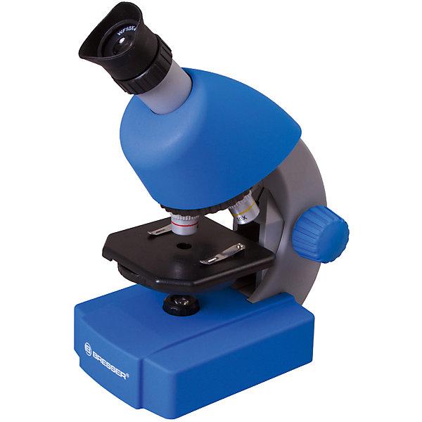 Микроскоп Bresser Junior 40x-640x, синийМикроскопы<br>Характеристики товара:<br><br>• материал: металл, пластик<br>• увеличение: до 640 крат<br>• объективы: 4х, 10х, 40х<br>• подсветка: светодиодная<br>• подсветка работает от батареек 3хАА<br>• вес: 0,556 кг<br>• размер: 22х16х10 см<br>• комплектация: микроскоп, окуляр WF10x–WF16, объективы, набор для опытов, готовые препараты<br>• страна бренда: Германия<br><br>В этом наборе есть всё необходимое, чтобы приступить к опытам немедленно! Собственный микроскоп - это отличный способ заинтересовать ребенка наукой и привить ему интерес к учебе. Эта модель микроскопа была разработана специально для детей - он позволяет увеличивать препарат в 640 крат, с помощью этого дети могут исследовать состав и структуру разнообразных предметов, веществ и организмов. Благодаря стильному дизайну этот микроскоп отлично вписывается в интерьер!<br><br>Оптические приборы от немецкой компании Bresser уже успели зарекомендовать себя как качественная и надежная продукция. Для их производства используются только безопасные и проверенные материалы. Такой прибор способен прослужить долго. Подарите ребенку интересную и полезную вещь!<br><br>Микроскоп Bresser Junior 40x-640x, синий, от известного бренда Bresser (Брессер) можно купить в нашем интернет-магазине.<br><br>Ширина мм: 280<br>Глубина мм: 155<br>Высота мм: 170<br>Вес г: 860<br>Возраст от месяцев: 60<br>Возраст до месяцев: 2147483647<br>Пол: Унисекс<br>Возраст: Детский<br>SKU: 5435322