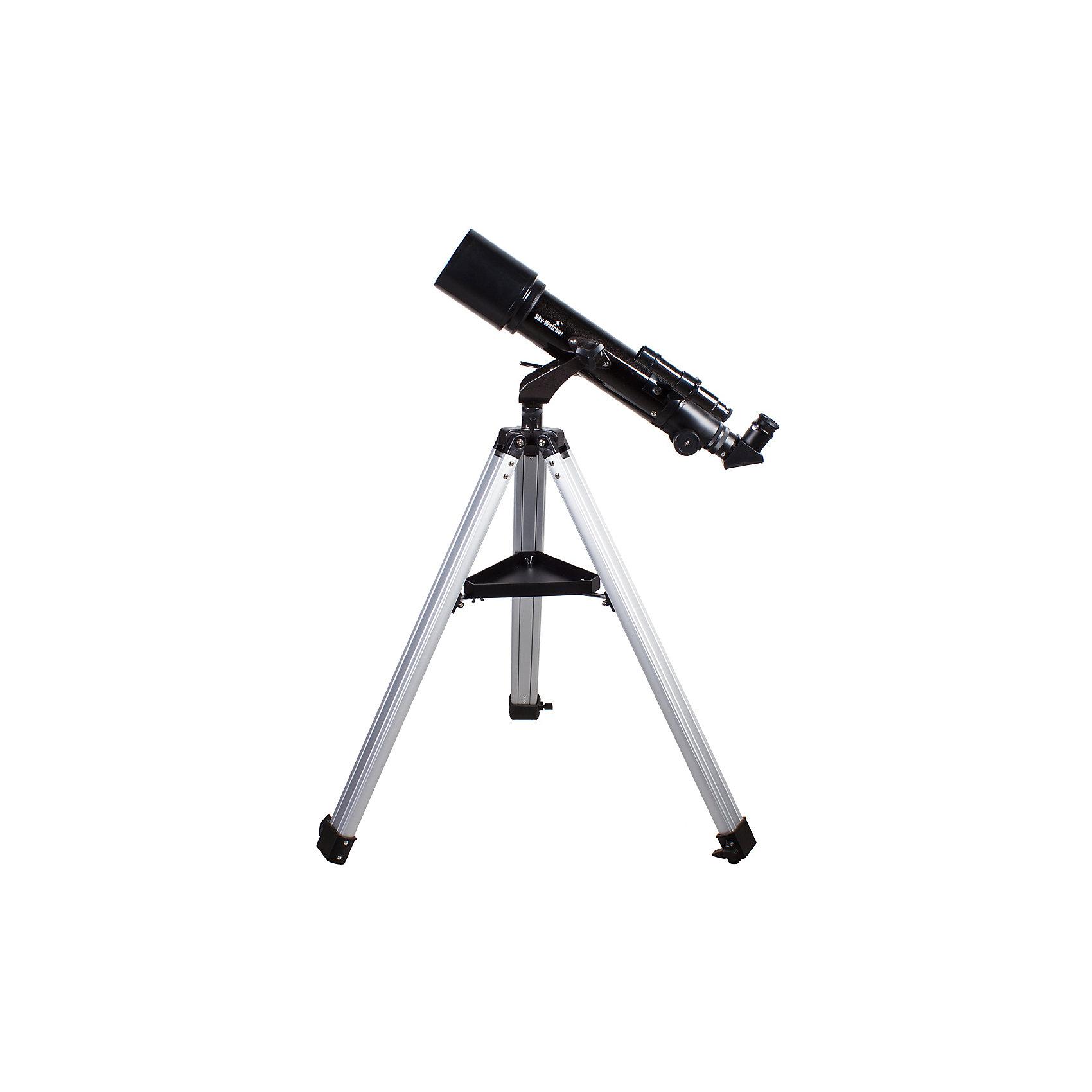 Телескоп Sky-Watcher BK 705AZ2Телескопы<br>Характеристики товара:<br><br>• материал: металл, пластик<br>• тип телескопа: рефрактор<br>• максимальное полезное увеличение: 140 крат<br>• светосила (относительное отверстие): f/7,1<br>• окуляры в комплекте: Super 25 мм, Super 10 мм<br>• посадочный диаметр окуляров: 1,25 дюймов<br>• искатель: оптический, 6x24<br>• тип управления телескопом: ручной<br>• фокусное расстояние: 500 мм<br>• тип монтировки: азимутальная<br>• габариты в упаковке: 100х26х32 см<br>• вес в упаковке: 6 кг<br>• страна бренда: КНР<br>• страна производства: КНР<br><br>Телескоп - это отличный способ заинтересовать ребенка наблюдениями за небесными телами и привить ему интерес к учебе. Эта модель была разработана специально для детей - он позволяет увеличивать предметы из космоса и изучать их. Благодаря легкому и прочному корпусу телескоп удобно брать с собой!<br><br>Оптические приборы от компании Sky-Watcher уже успели зарекомендовать себя как качественная и надежная продукция. Для их производства используются только безопасные и проверенные материалы. Такой прибор способен прослужить долго. Подарите ребенку интересную и полезную вещь!<br><br>Телескоп Sky-Watcher BK 705AZ2, можно купить в нашем интернет-магазине.<br><br>Ширина мм: 970<br>Глубина мм: 245<br>Высота мм: 310<br>Вес г: 5900<br>Возраст от месяцев: 60<br>Возраст до месяцев: 2147483647<br>Пол: Унисекс<br>Возраст: Детский<br>SKU: 5435330