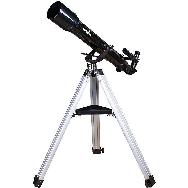 Телескоп Sky-Watcher BK 707AZ2Телескопы<br>Характеристики товара:<br><br>• материал: металл, пластик<br>• тип телескопа: рефрактор<br>• максимальное полезное увеличение: 140крат<br>• светосила (относительное отверстие): f/10<br>• окуляры в комплекте: 25 мм, 10 мм<br>• посадочный диаметр окуляров: 1,25 дюймов<br>• искатель: оптический, 6x24<br>• тип управления телескопом: ручной<br>• фокусное расстояние: 700 мм<br>• тип монтировки: азимутальная<br>• габариты в упаковке: 100х26х32 см<br>• вес в упаковке: 6 кг<br>• страна бренда: КНР<br>• страна производства: КНР<br><br>Телескоп - это отличный способ заинтересовать ребенка наблюдениями за небесными телами и привить ему интерес к учебе. Эта модель была разработана специально для детей - он позволяет увеличивать предметы из космоса и изучать их. Благодаря легкому и прочному корпусу телескоп удобно брать с собой!<br><br>Оптические приборы от компании Sky-Watcher уже успели зарекомендовать себя как качественная и надежная продукция. Для их производства используются только безопасные и проверенные материалы. Такой прибор способен прослужить долго. Подарите ребенку интересную и полезную вещь!<br><br>Телескоп Sky-Watcher BK 767AZ2, можно купить в нашем интернет-магазине.<br><br>Ширина мм: 985<br>Глубина мм: 260<br>Высота мм: 315<br>Вес г: 6780<br>Возраст от месяцев: 60<br>Возраст до месяцев: 2147483647<br>Пол: Унисекс<br>Возраст: Детский<br>SKU: 5435331