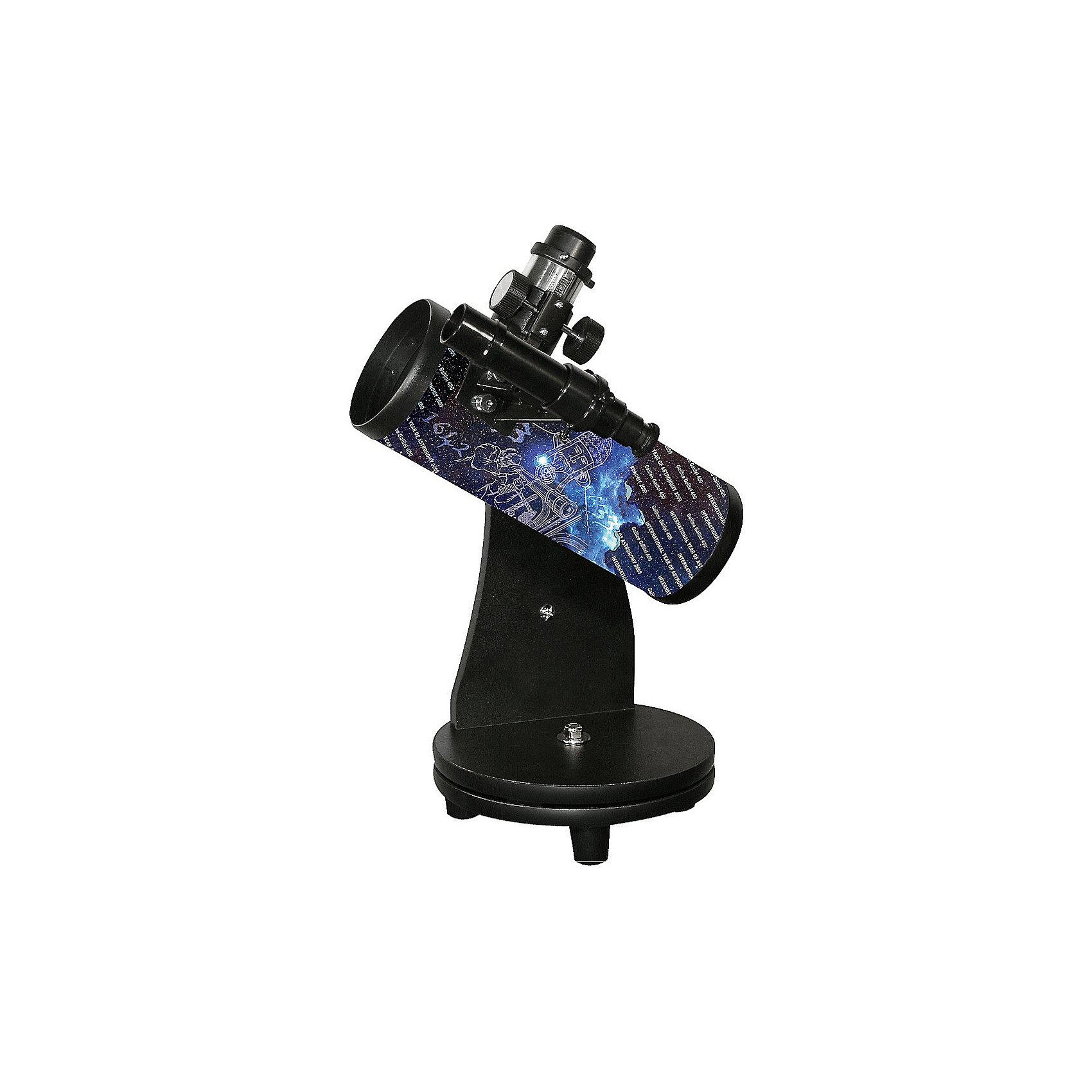 Телескоп Sky-Watcher Dob 76/300 Heritage, настольныйТелескопы<br>Характеристики товара:<br><br>• материал: металл, пластик<br>• тип телескопа: рефлектор<br>• максимальное полезное увеличение: 152 крат<br>• светосила (относительное отверстие): f/4<br>• искатель: оптический, 5x24<br>• тип управления телескопом: ручной<br>• фокусное расстояние: 300 мм<br>• тип монтировки: азимутальная<br>• габариты в упаковке: 39х24х24 см<br>• вес в упаковке: 2,6 кг<br>• страна бренда: КНР<br>• страна производства: КНР<br><br>Телескоп - это отличный способ заинтересовать ребенка наблюдениями за небесными телами и привить ему интерес к учебе. Эта модель была разработана специально для детей - он позволяет увеличивать предметы из космоса и изучать их. Благодаря легкому и прочному корпусу телескоп удобно брать с собой!<br><br>Оптические приборы от компании Sky-Watcher уже успели зарекомендовать себя как качественная и надежная продукция. Для их производства используются только безопасные и проверенные материалы. Такой прибор способен прослужить долго. Подарите ребенку интересную и полезную вещь!<br><br>Телескоп Sky-Watcher Dob 76/300 Heritage, настольный, можно купить в нашем интернет-магазине.<br><br>Ширина мм: 390<br>Глубина мм: 240<br>Высота мм: 240<br>Вес г: 2600<br>Возраст от месяцев: 60<br>Возраст до месяцев: 2147483647<br>Пол: Унисекс<br>Возраст: Детский<br>SKU: 5435332