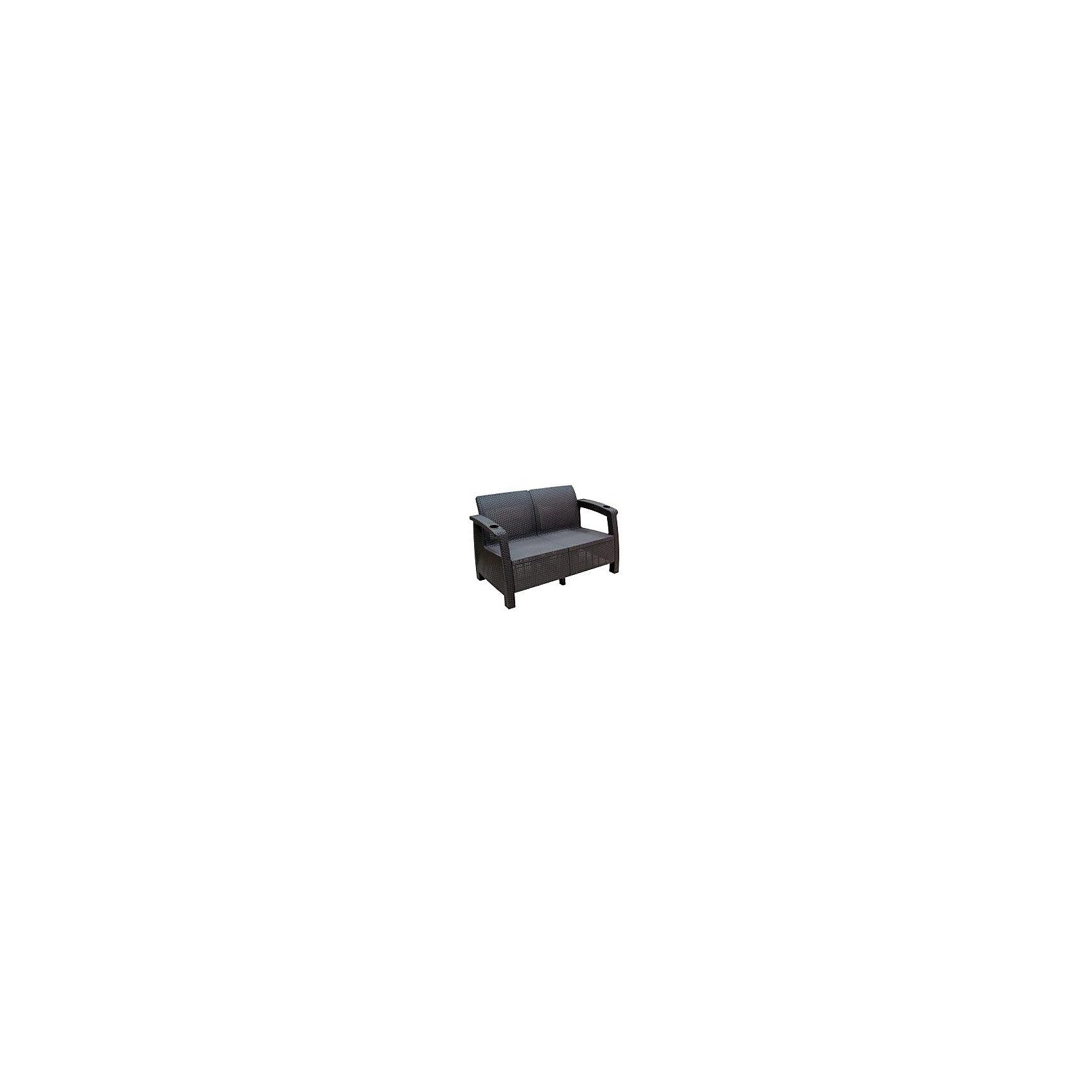 Диван Ротанг 2-х местный, Alternativa, коричневыйДиван Ротанг 1270х700х790без подуш., Alternativa (Альтернатива), коричневый<br><br>Характеристики:<br><br>• интересный дизайн<br>• выдерживает большие нагрузки<br>• два подстаканника<br>• материал: пластик<br>• размер: 127х70х79 см<br>• цвет: коричневый<br>• вес: 11,228 кг<br><br>Для комфортного отдыха необходим качественный и красивый диван. Ротанг - изумительный диван из пластика от российского производителя. Диван выдерживает большие нагрузки и, к тому же, имеет очень привлекательный вид. На ручках дивана есть два подстаканника, чтобы вы могли воспользоваться напитками во время отдыха. Размер дивана - 127х70х79 сантиметров.<br><br>Диван Ротанг 1270х700х790без подуш., Alternativa (Альтернатива), коричневый вы можете купить в нашем интернет-магазине.<br><br>Ширина мм: 1270<br>Глубина мм: 700<br>Высота мм: 790<br>Вес г: 11228<br>Возраст от месяцев: 12<br>Возраст до месяцев: 1188<br>Пол: Унисекс<br>Возраст: Детский<br>SKU: 5436200