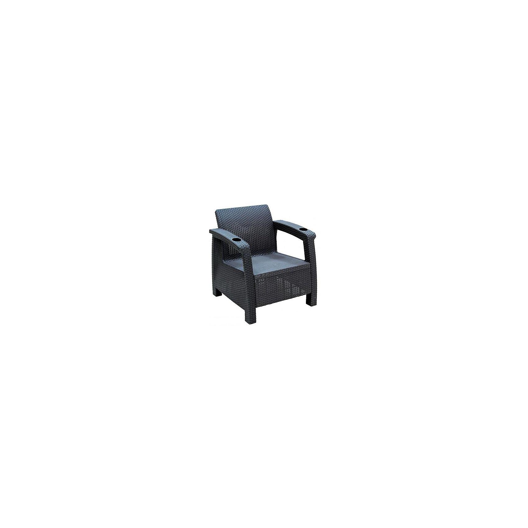 Кресло Ротанг, Alternativa, коричневыйКресло Ротанг 730х700х790 без подуш., Alternativa (Альтернатива), коричневый<br><br>Характеристики:<br><br>• привлекательный дизайн<br>• прочные материалы<br>• два подстаканника<br>• цвет: коричневый<br>• материал: пластик<br>• размер: 73х70х79 см<br>• вес: 6,8 кг<br><br>Кресло Ротанг отлично подойдет для уютного отдыха в саду или на даче. Оно изготовлено из качественного пластика с высокой износостойкостью. На подлокотниках есть 2 углубления для стаканов с напитками. Вы сможете удобно расположиться в кресле и пить любимый сок, чай или любой другой напиток. Широкие ножки гарантируют хорошую устойчивость кресла.<br><br>Кресло Ротанг 730х700х790 без подуш., Alternativa (Альтернатива), коричневый можно купить в нашем интернет-магазине.<br><br>Ширина мм: 730<br>Глубина мм: 700<br>Высота мм: 790<br>Вес г: 6800<br>Возраст от месяцев: 12<br>Возраст до месяцев: 1188<br>Пол: Унисекс<br>Возраст: Детский<br>SKU: 5436203