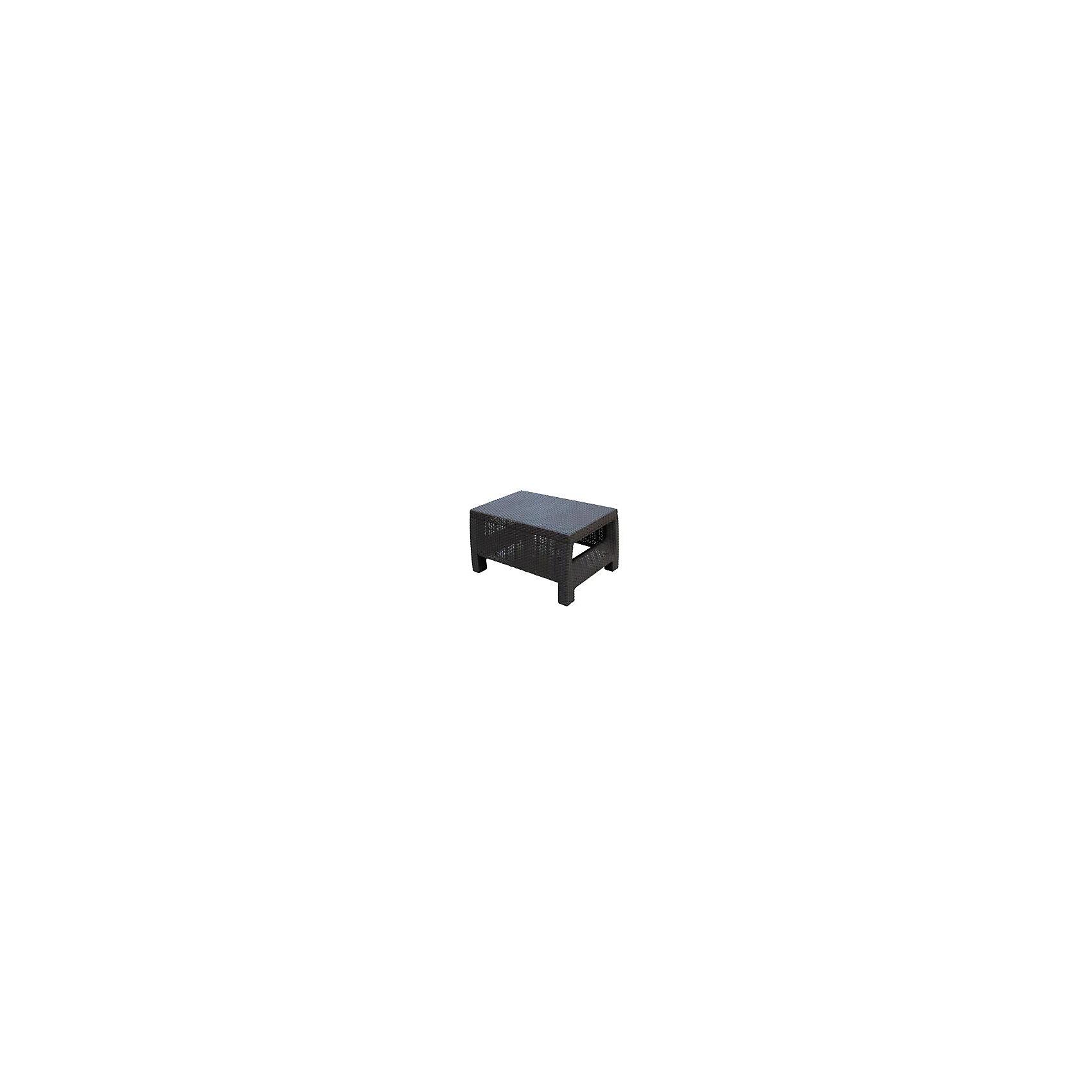 Стол Ротанг, прямоугольный, Alternativa, коричневыйМебель<br>Стол Ротанг 765х570х420, Alternativa (Альтернатива), коричневый<br><br>Характеристики:<br><br>• подходит в качестве журнального столика<br>• приятный дизайн<br>• материал: пластик<br>• размер стола: 76,5х57х42 см<br>• вес: 3,38 кг<br>• цвет: коричневый<br><br>Универсальный стол Ротанг отлично подойдет в качестве журнального столика, подставки или стола для отдыха на природе. Лаконичный дизайн прекрасно подходит к любому интерьеру. Широкие ножки гарантируют столу устойчивость на любой поверхности. Стол Ротанг изготовлен из качественного пластика с высокой прочностью.<br><br>Стол Ротанг 765х570х420, Alternativa (Альтернатива), коричневый вы можете купить в нашем интернет-магазине.<br><br>Ширина мм: 765<br>Глубина мм: 570<br>Высота мм: 420<br>Вес г: 4100<br>Возраст от месяцев: 12<br>Возраст до месяцев: 1188<br>Пол: Унисекс<br>Возраст: Детский<br>SKU: 5436208