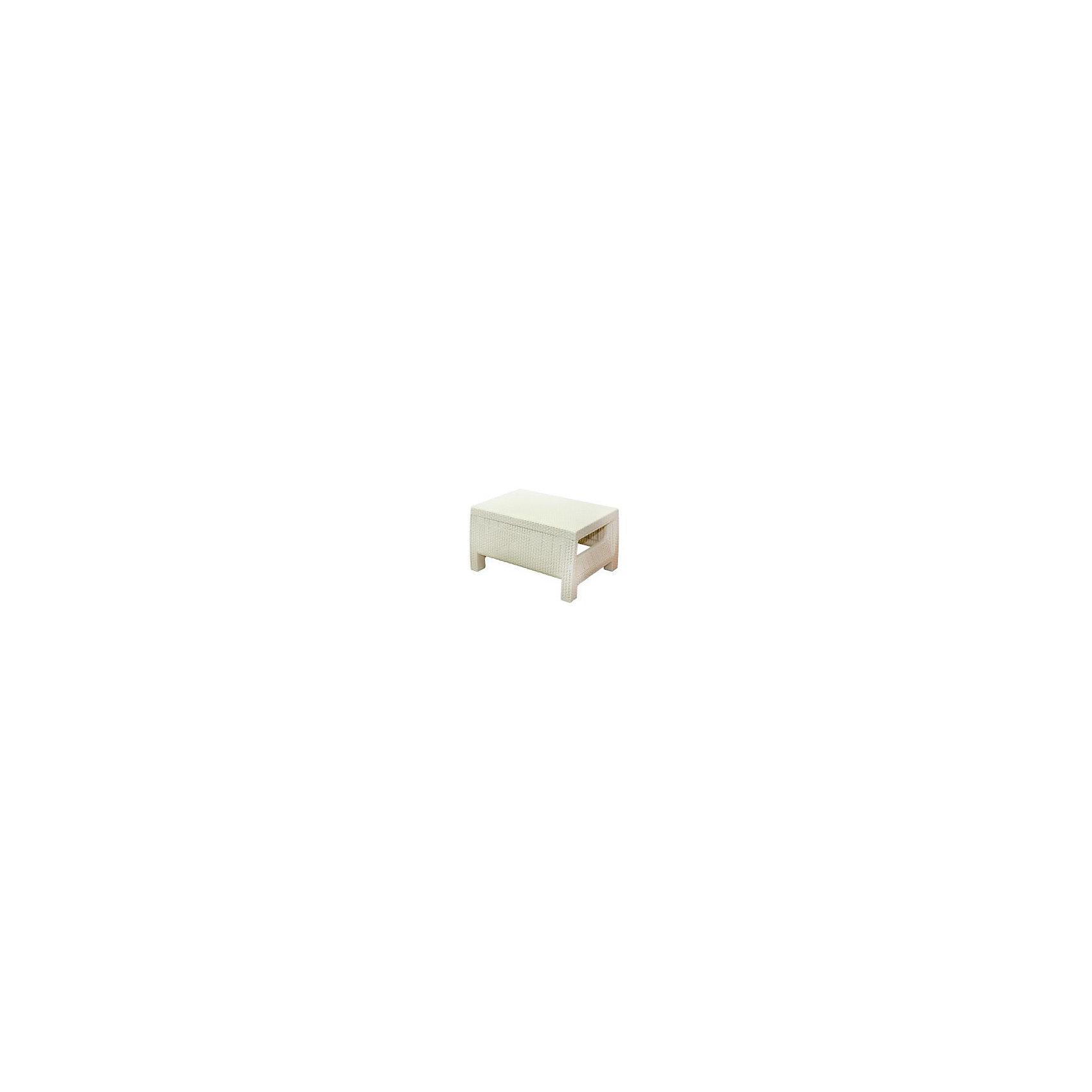Стол Ротанг, прямоугольный, Alternativa, слоновая костьМебель<br>Стол Ротанг 765х570х420, Alternativa (Альтернатива), слоновая кость<br><br>Характеристики:<br><br>• подходит в качестве журнального столика<br>• приятный дизайн<br>• материал: пластик<br>• размер стола: 76,5х57х42 см<br>• вес: 3,38 кг<br>• цвет: слоновая кость<br><br>Универсальный стол Ротанг отлично подойдет в качестве журнального столика, подставки или стола для отдыха на природе. Лаконичный дизайн прекрасно подходит к любому интерьеру. Широкие ножки гарантируют столу устойчивость на любой поверхности. Стол Ротанг изготовлен из качественного пластика с высокой прочностью.<br><br>Стол Ротанг 765х570х420, Alternativa (Альтернатива), слоновая кость вы можете купить в нашем интернет-магазине.<br><br>Ширина мм: 765<br>Глубина мм: 570<br>Высота мм: 420<br>Вес г: 4100<br>Возраст от месяцев: 12<br>Возраст до месяцев: 1188<br>Пол: Унисекс<br>Возраст: Детский<br>SKU: 5436209