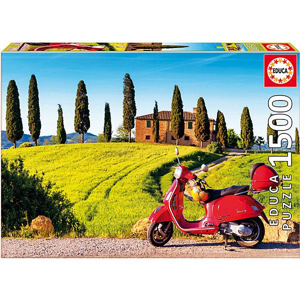 Купить Пазл Скутер с Тоскане , 1500 деталей, Educa, Испания, Унисекс