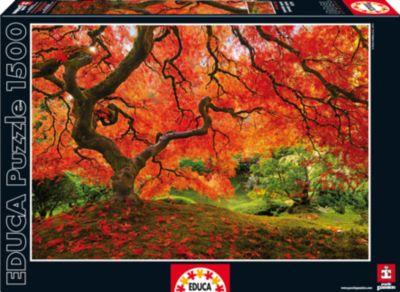 Пазл Осень в японском саду , 1500 деталей, Educa