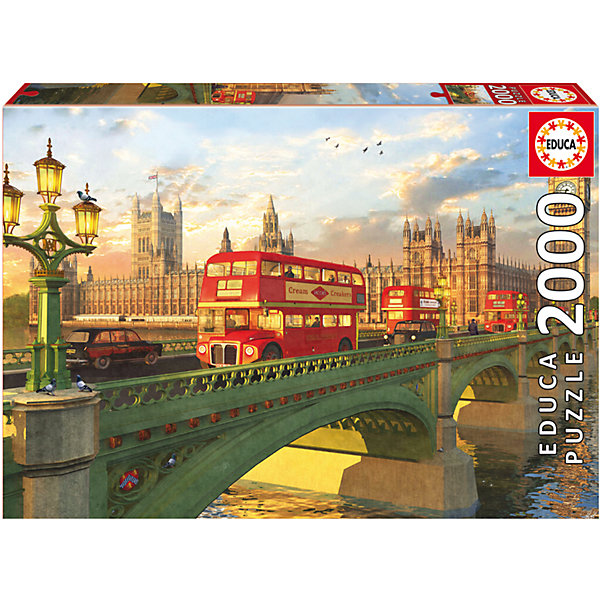Пазл Вестминстерский мост, Лондон, 2000 деталей, EducaПазлы классические<br>Пазл Вестминстерский мост, Лондон, 2000 деталей, Educa (Эдука).<br><br>Характеристики:<br><br>• Размер упаковки: 430х300х55 мм.<br>• Вес: 1378г.<br>• Тип : пазл-мозаика.<br>• Возраст: с 11лет.<br>• 2000 деталей.<br>• Размер собранной картинки: 96 х 68 см.<br>• ISBN: 8412668167773<br>• Материал: картон.<br><br>Пазл Вестминстерский мост, Лондон, 2000 деталей, Educa(Эдука) это великолепный подарок, как для ребенка, так и для взрослого. Большой увлекательный пазл объединит всю семью за интересным занятием, отвлечет от повседневных дел, обучит терпению и внимательности. Пазлы Educa(Эдука)– это не только яркие, интересные изображения, но и высочайшее качество продукции. <br><br>Каждый пазл фирмы Educa(Эдука)изготовлен и упакован с большой тщательностью. Особенности пазлов Educa(Эдука)отсутствие двух одинаковых деталей; части пазла идеально соединяются; прочные детали не ломаются; изготовлены из экологического сырья.<br><br>Пазл Вестминстерский мост, Лондон, 2000 деталей, Educa(Эдука), можно купить в нашем интернет – магазине.<br>Ширина мм: 430; Глубина мм: 300; Высота мм: 55; Вес г: 1378; Возраст от месяцев: 36; Возраст до месяцев: 2147483647; Пол: Унисекс; Возраст: Детский; SKU: 5436310;