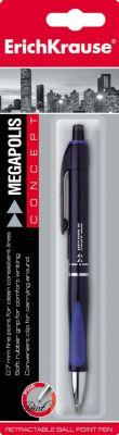 Ручка шариковая автоматическая MEGAPOLIS CONCEPT, блистер, 1 шт., Erich Krause