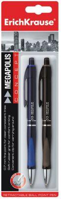 Ручки шариковые автоматические MEGAPOLIS CONCEPT, блистер, (набор из 2 шт.), Erich Krause фото-1