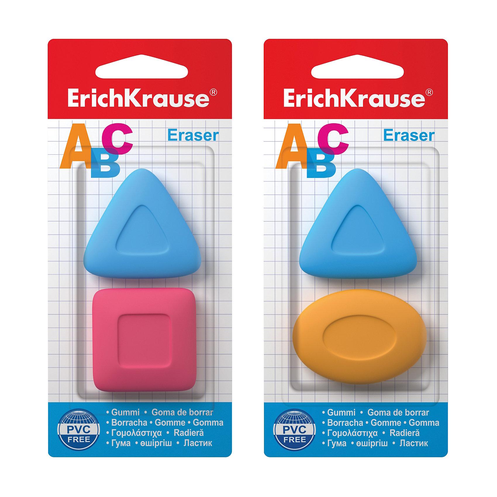 Набор из 2-х ластиков ABC, Erich KrauseЧертежные принадлежности<br>Набор из 2-х ластиков ABC, Erich Krause (Эрих Краузе). <br><br>Характеристика: <br><br>• Материал: каучук.<br>• Стружка от ластика скатывается в один комок, а не рассыпается по всей поверхности листа. <br>• 2 ластика в наборе.<br>• Яркие цвета. <br><br>Яркие ластики ABC отлично убирают карандашные линии, не рвут бумагу. Стружка от ластика скатывается в один комок, а не рассыпается по всему листу. Ластики эргономичной формы позволяют убирать даже самые маленькие и незначительные помарки.<br><br>Набор из 2-х ластиков ABC, Erich Krause (Эрих Краузе), можно купить в нашем интернет-магазине.<br><br>Ширина мм: 80<br>Глубина мм: 160<br>Высота мм: 7<br>Вес г: 40<br>Возраст от месяцев: 84<br>Возраст до месяцев: 2147483647<br>Пол: Унисекс<br>Возраст: Детский<br>SKU: 5436339