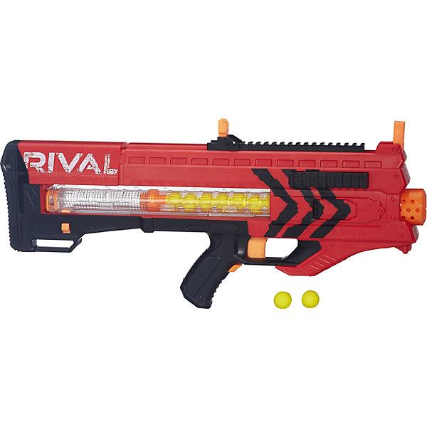 Бластер Райвал Зевс, NERF, B1591/B1592Игрушечные пистолеты и бластеры<br>Автоматический бластер НЁРФ Райвал с обоймой на 12 шариков! Два цвета в ассортименте: красный и синий.<br><br>Ширина мм: 76<br>Глубина мм: 625<br>Высота мм: 254<br>Вес г: 1676<br>Возраст от месяцев: 168<br>Возраст до месяцев: 192<br>Пол: Мужской<br>Возраст: Детский<br>SKU: 5436577