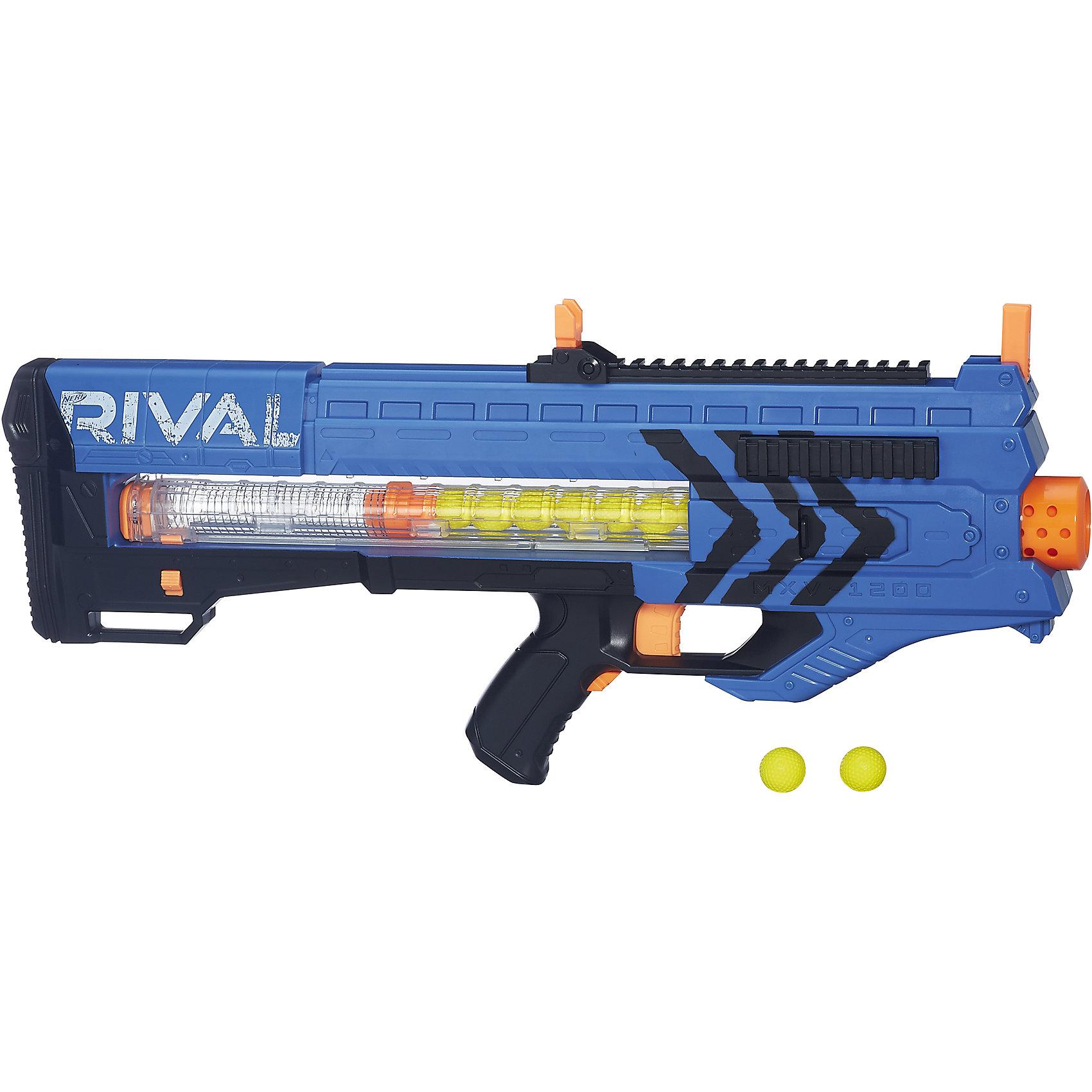 Бластер Райвал Зевс, NERF, B1591/B1593Игрушечное оружие<br>Автоматический бластер НЁРФ Райвал с обоймой на 12 шариков! Два цвета в ассортименте: красный и синий.<br><br>Ширина мм: 76<br>Глубина мм: 625<br>Высота мм: 254<br>Вес г: 1676<br>Возраст от месяцев: 168<br>Возраст до месяцев: 192<br>Пол: Мужской<br>Возраст: Детский<br>SKU: 5436578