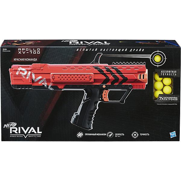 Бластер Райвал Апполо, NERF, B1595/B1618Игрушечные пистолеты и бластеры<br>Механический бластер НЁРФ Райвал с обоймой на 7 шариков! Два цвета в ассортименте: красный и синий.<br><br>Ширина мм: 76<br>Глубина мм: 457<br>Высота мм: 254<br>Вес г: 1075<br>Возраст от месяцев: 168<br>Возраст до месяцев: 192<br>Пол: Мужской<br>Возраст: Детский<br>SKU: 5436581