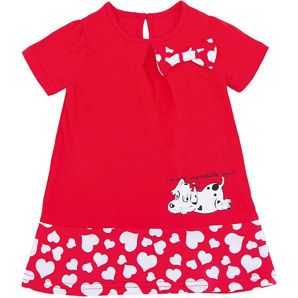 Платье для девочки АпрельПлатья и сарафаны<br>Характеристики товара:<br><br>• цвет: красный<br>• состав: 70% хлопок, 30% полиэстер<br>• короткие рукава<br>• округлый горловой вырез<br>• декорировано принтом<br>• бант<br>• застежка: пуговица<br>• комфортная посадка<br>• страна производитель: Российская Федерация<br>• страна бренда: Российская Федерация<br><br>Это симпатичное платье - удобная и универсальная вещь, которая поможет разнообразить гардероб ребенка. Она комфортно ощущается на теле, хорошо садится по детской фигуре. Изделие отлично сочетается с различной обувью. Материал преимущественно состоит из хлопка, который не вызывает аллергии и позволяет коже дышать.<br><br>Платье для девочки от известного бренда Апрель можно купить в нашем интернет-магазине.<br><br>Ширина мм: 236<br>Глубина мм: 16<br>Высота мм: 184<br>Вес г: 177<br>Цвет: красный<br>Возраст от месяцев: 12<br>Возраст до месяцев: 18<br>Пол: Женский<br>Возраст: Детский<br>Размер: 86,92,116,110,104,98<br>SKU: 5438468