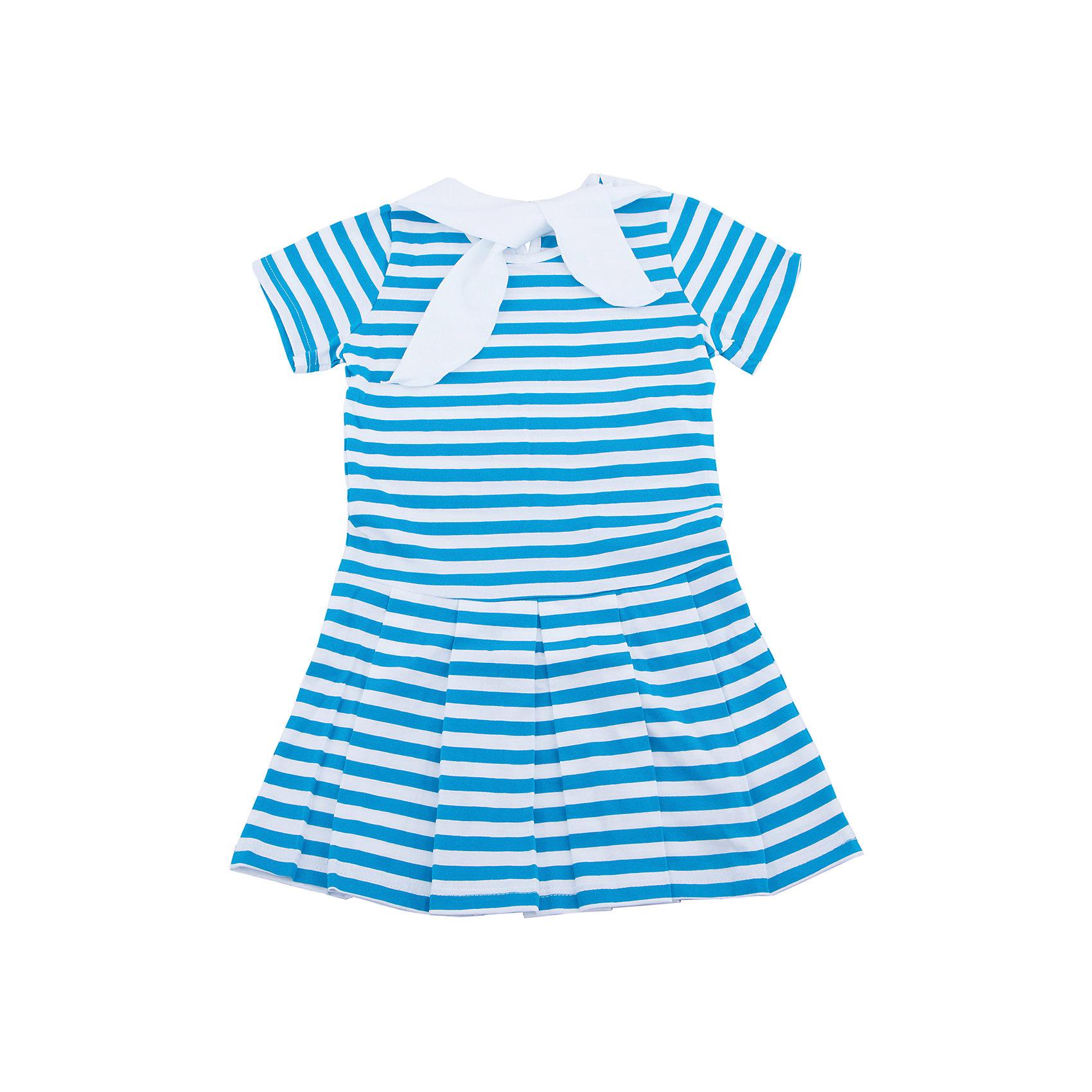 Платье для девочки АпрельПолоска<br>Характеристики товара:<br><br>• цвет: голубой<br>• состав: 100% хлопок<br>• короткие рукава<br>• декоративный воротник<br>• морской стиль<br>• складки на подоле<br>• застежка: пуговица<br>• комфортная посадка<br>• страна производитель: Российская Федерация<br>• страна бренда: Российская Федерация<br><br>Это симпатичное платье - удобная и универсальная вещь, которая поможет разнообразить гардероб ребенка. Она комфортно ощущается на теле, хорошо садится по детской фигуре. Изделие отлично сочетается с различной обувью. Материал состоит из хлопка, который не вызывает аллергии и позволяет коже дышать.<br><br>Платье для девочки от известного бренда Апрель можно купить в нашем интернет-магазине.<br><br>Ширина мм: 236<br>Глубина мм: 16<br>Высота мм: 184<br>Вес г: 177<br>Цвет: голубой<br>Возраст от месяцев: 60<br>Возраст до месяцев: 72<br>Пол: Женский<br>Возраст: Детский<br>Размер: 116,86,92,98,104,110<br>SKU: 5438502